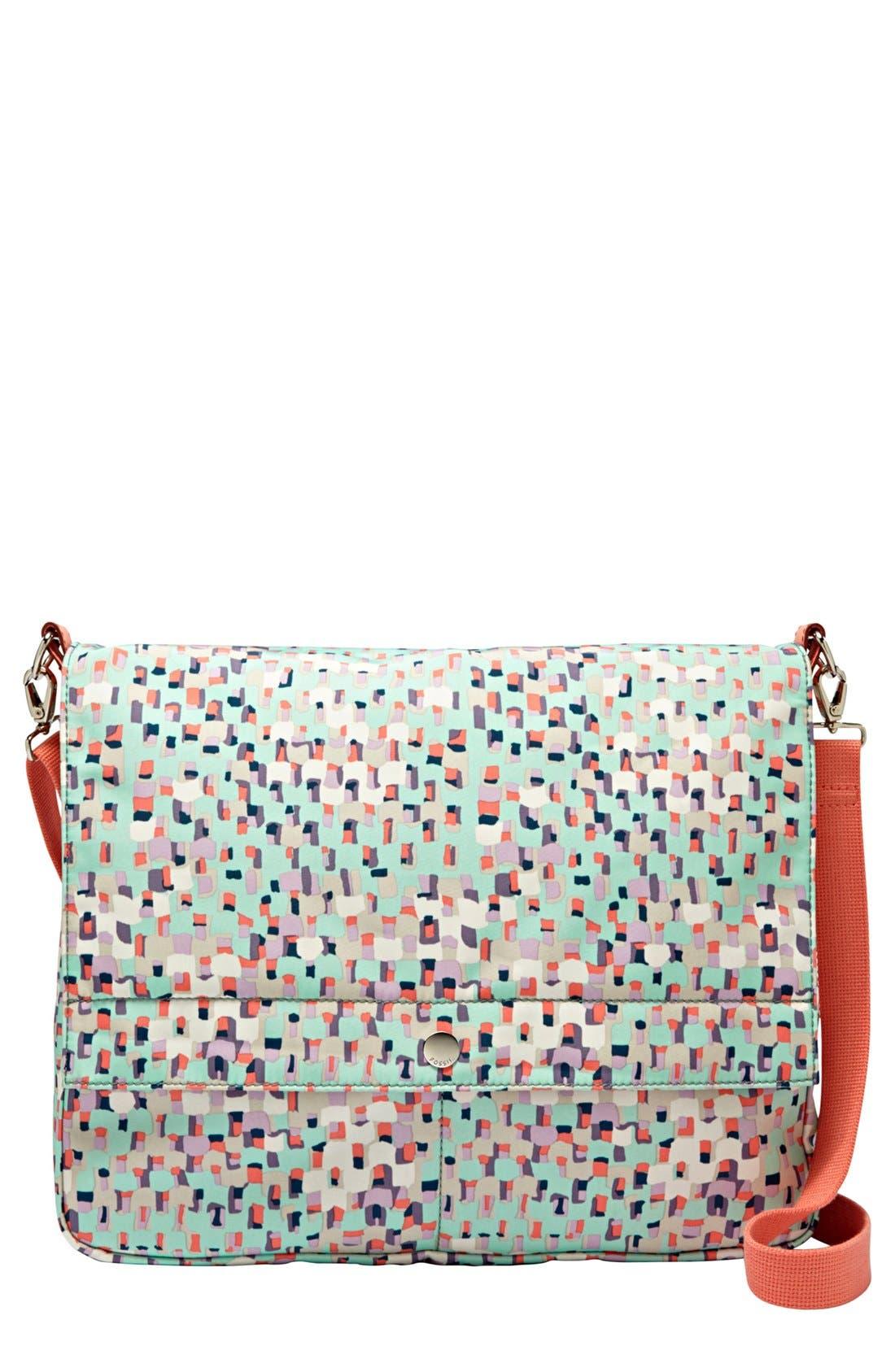 FOSSIL,                             'Key-Per' Messenger Bag,                             Main thumbnail 1, color,                             403