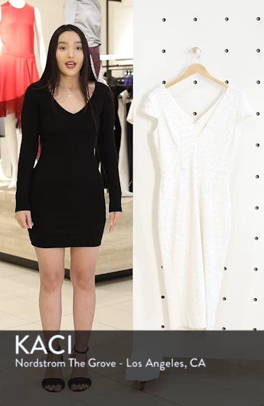 Allison Sequin Sheath Dress, sales video thumbnail