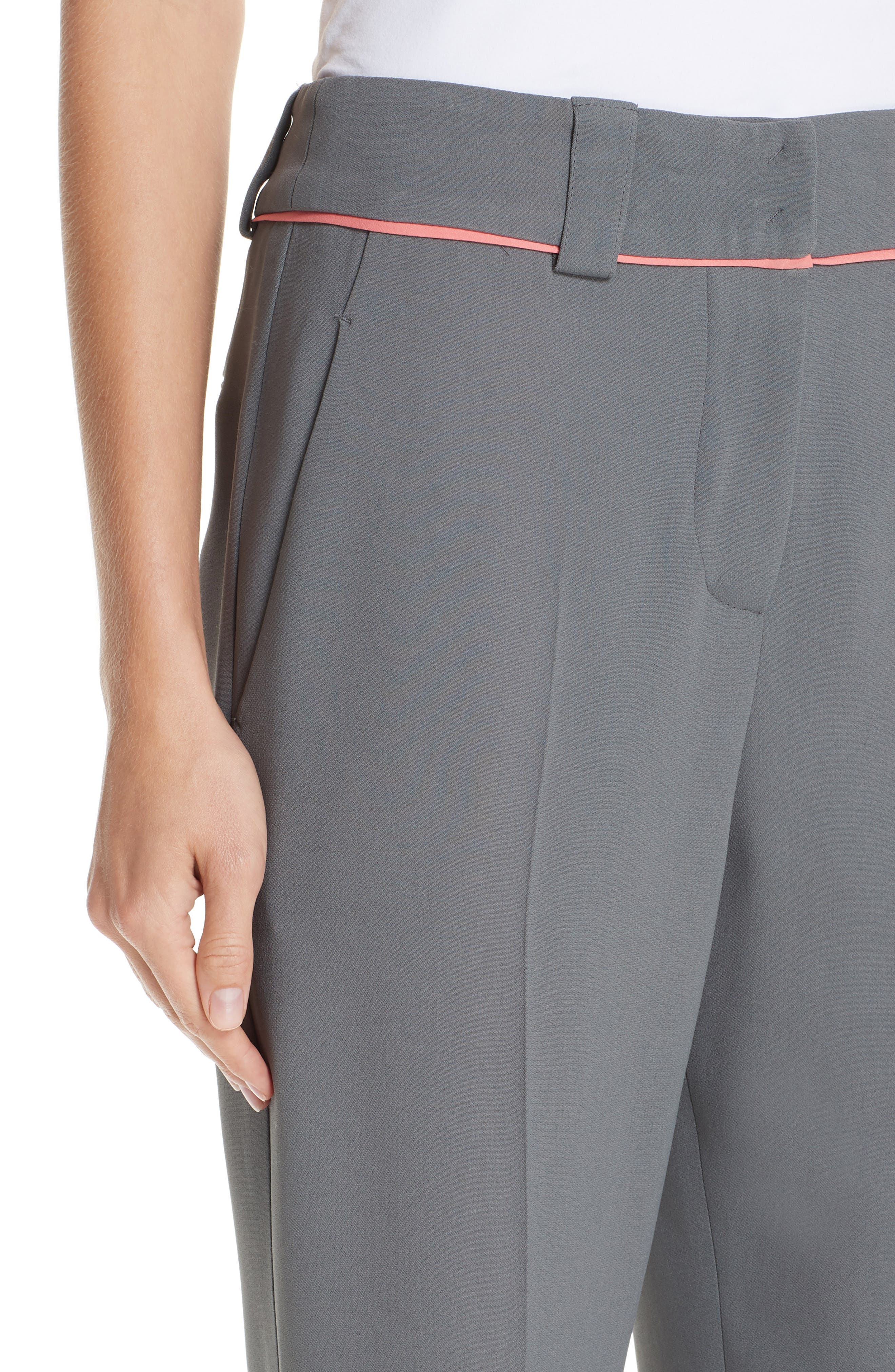 Piped Ankle Pants,                             Alternate thumbnail 4, color,                             ROCCIA