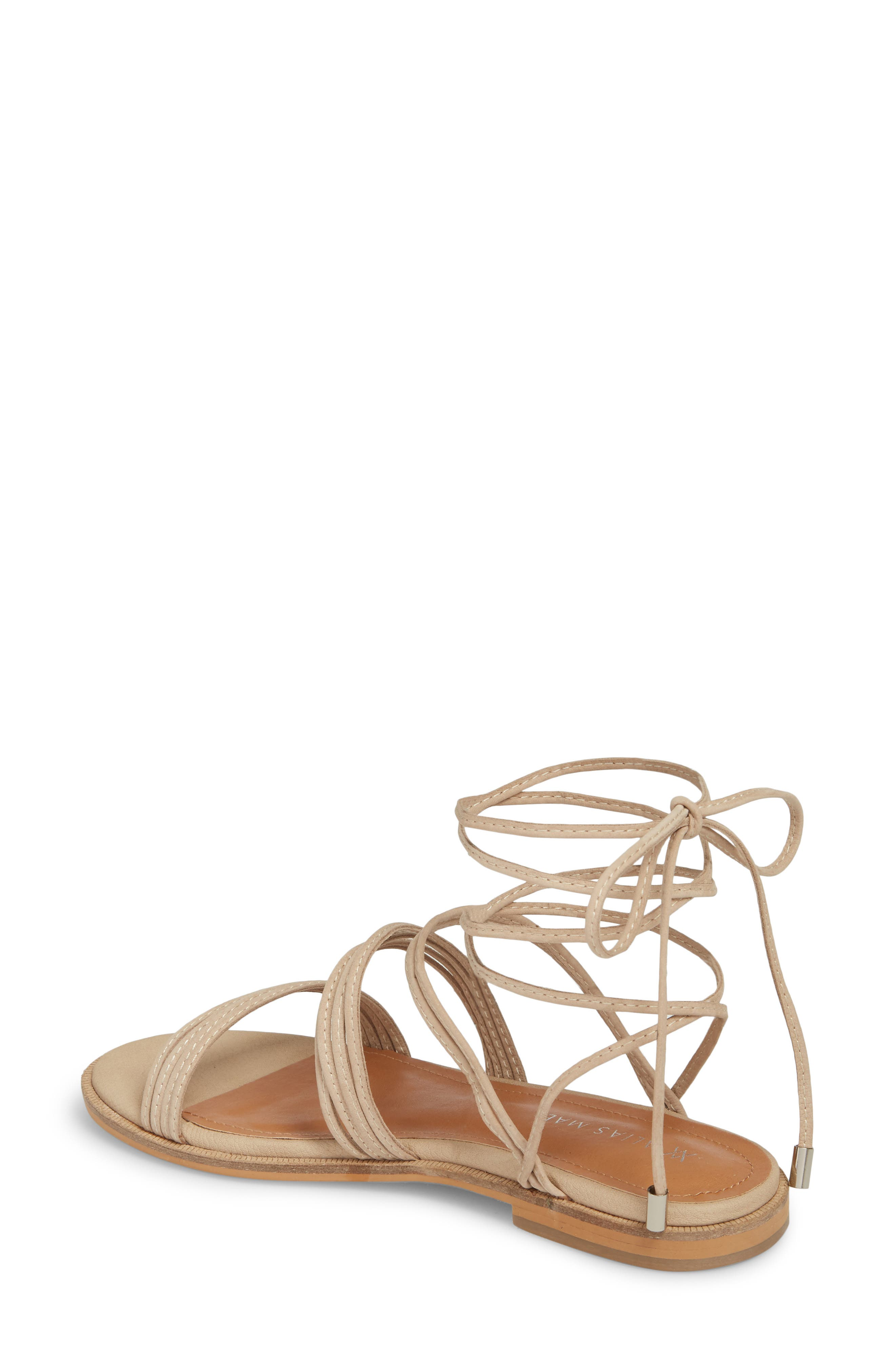 Theory Strappy Flat Sandal,                             Alternate thumbnail 5, color,