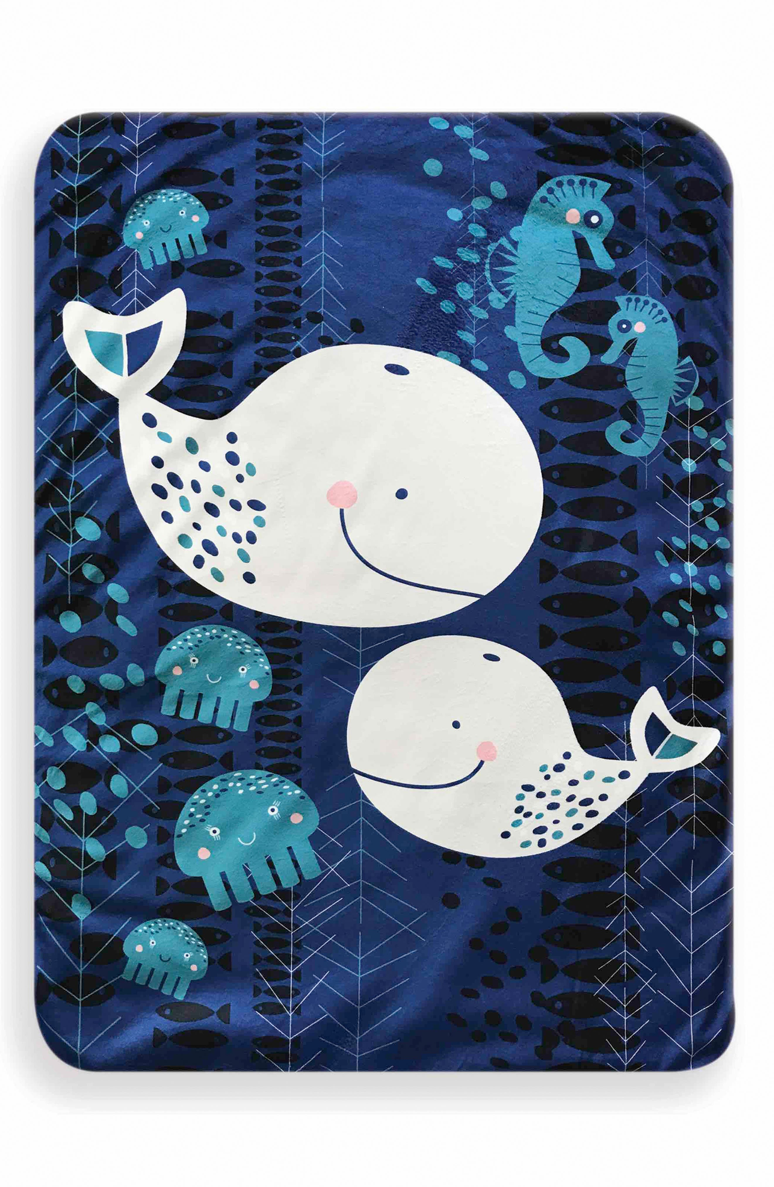 Whale of a Time Play Mat,                             Main thumbnail 1, color,                             INDIGO/ GREY/ WHITE