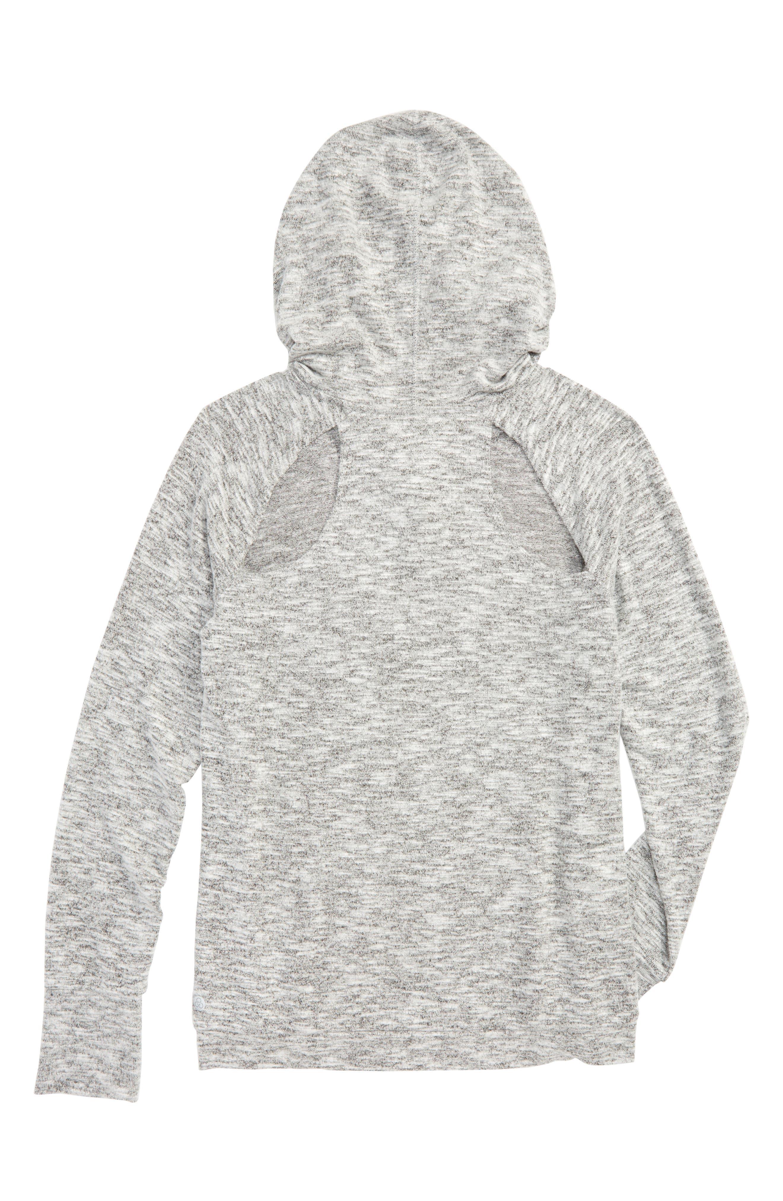 Vinyasa Cutout Hooded Pullover,                             Alternate thumbnail 2, color,                             001