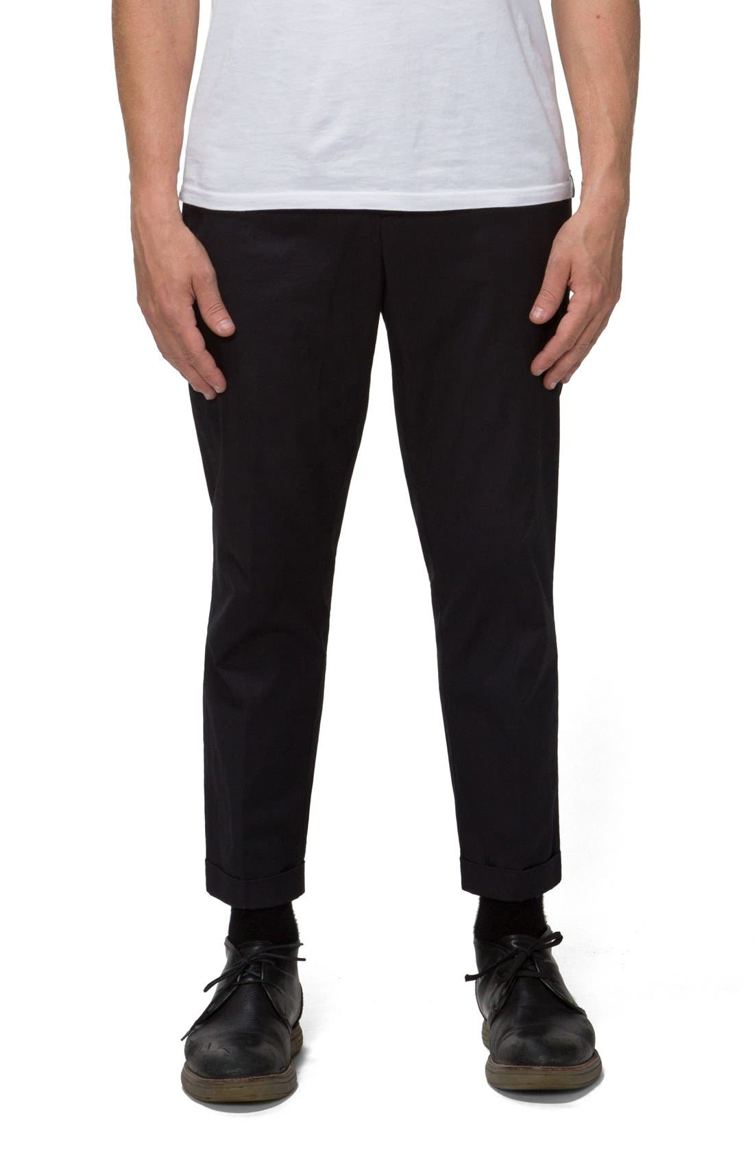 'Arroyo' Crop Stretch Chinos,                             Main thumbnail 1, color,                             001