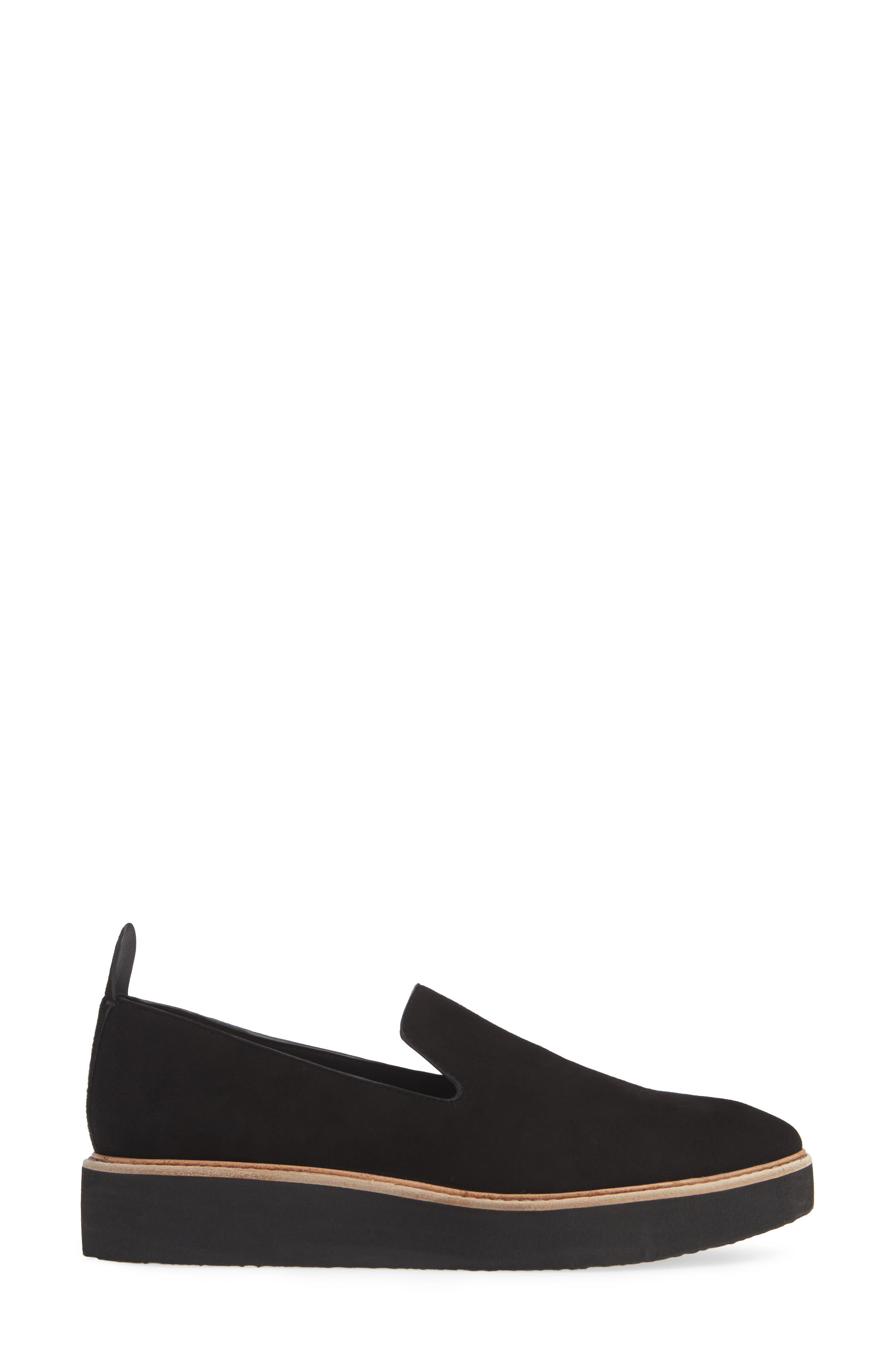 Sanders Slip-On Sneaker,                             Alternate thumbnail 3, color,                             BLACK/ BLACK LEATHER
