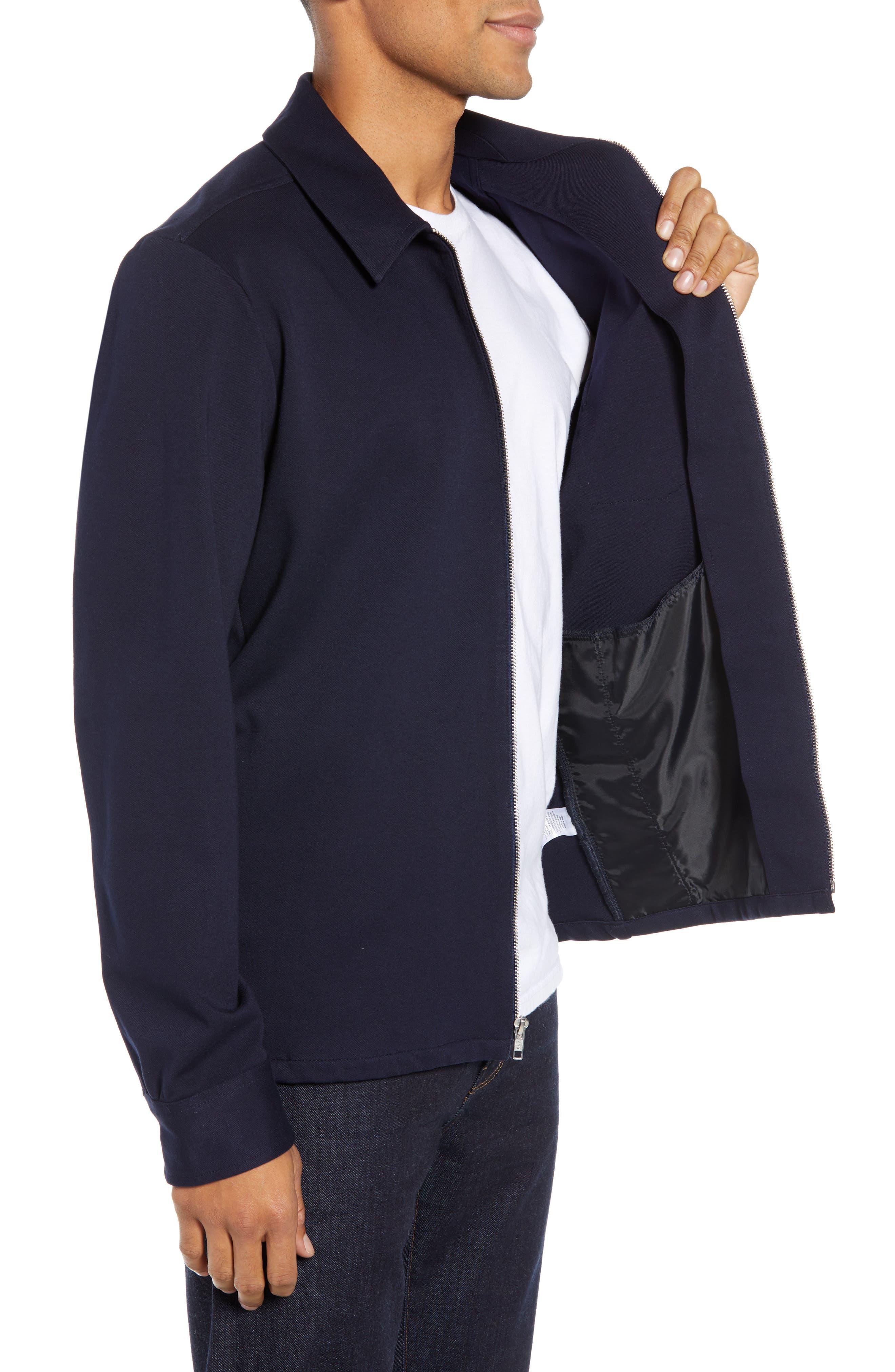 Zip Front Shirt Jacket,                             Alternate thumbnail 3, color,                             NAVY NIGHT