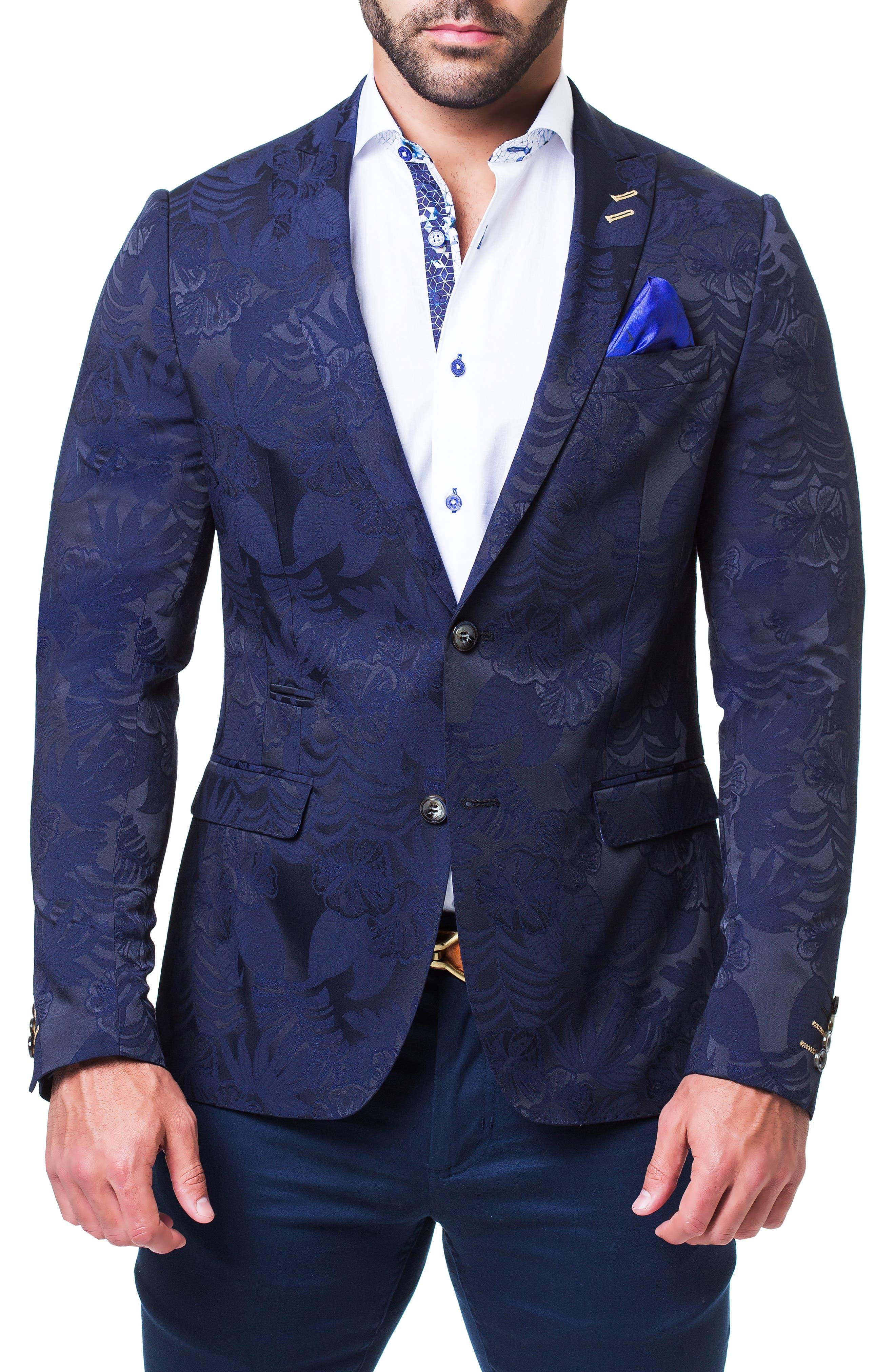 Descartes Field Blue Blazer,                         Main,                         color, BLUE