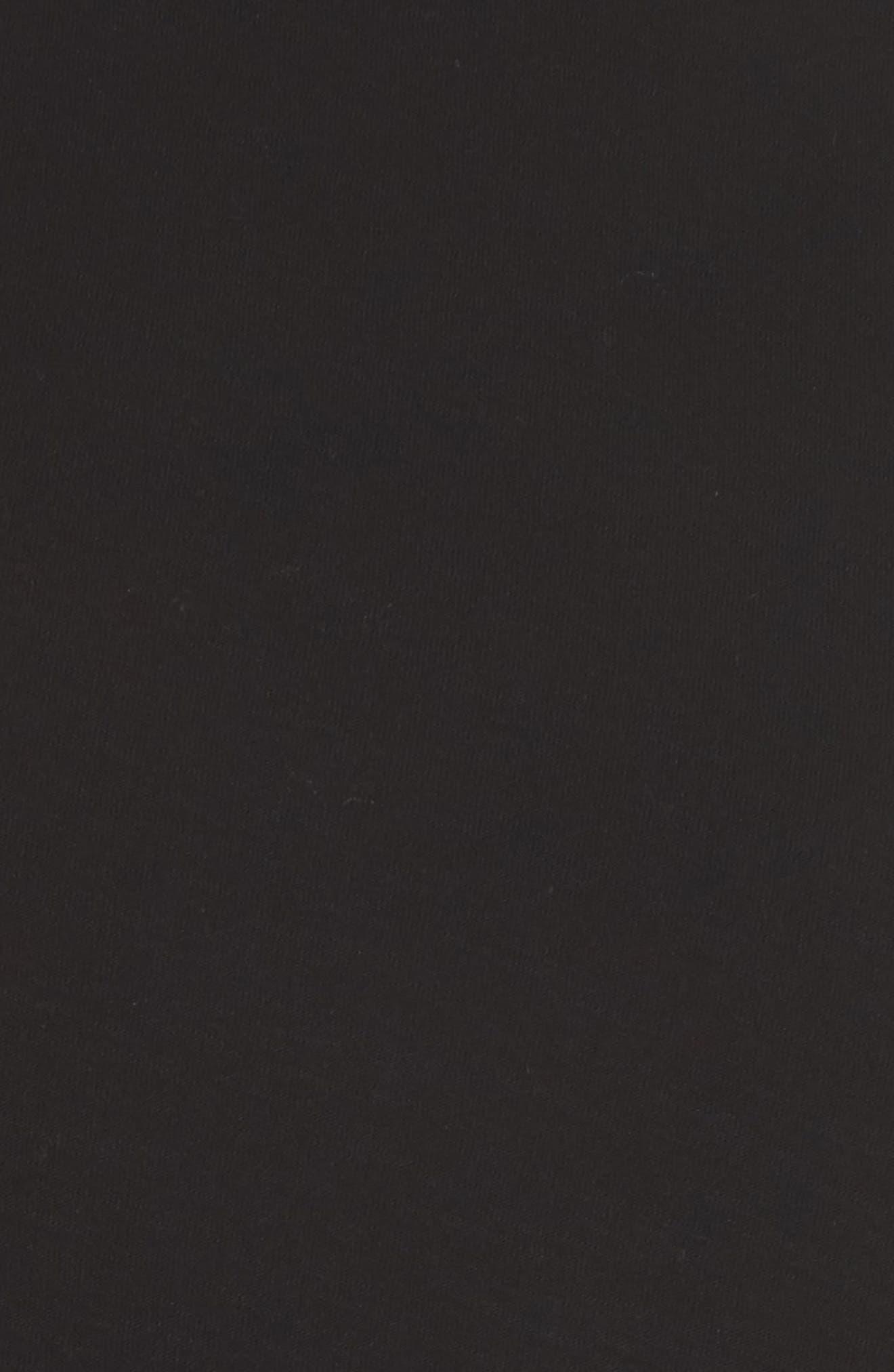 Ruffle Sleeve Mix Media Top,                             Alternate thumbnail 6, color,                             RICH BLACK