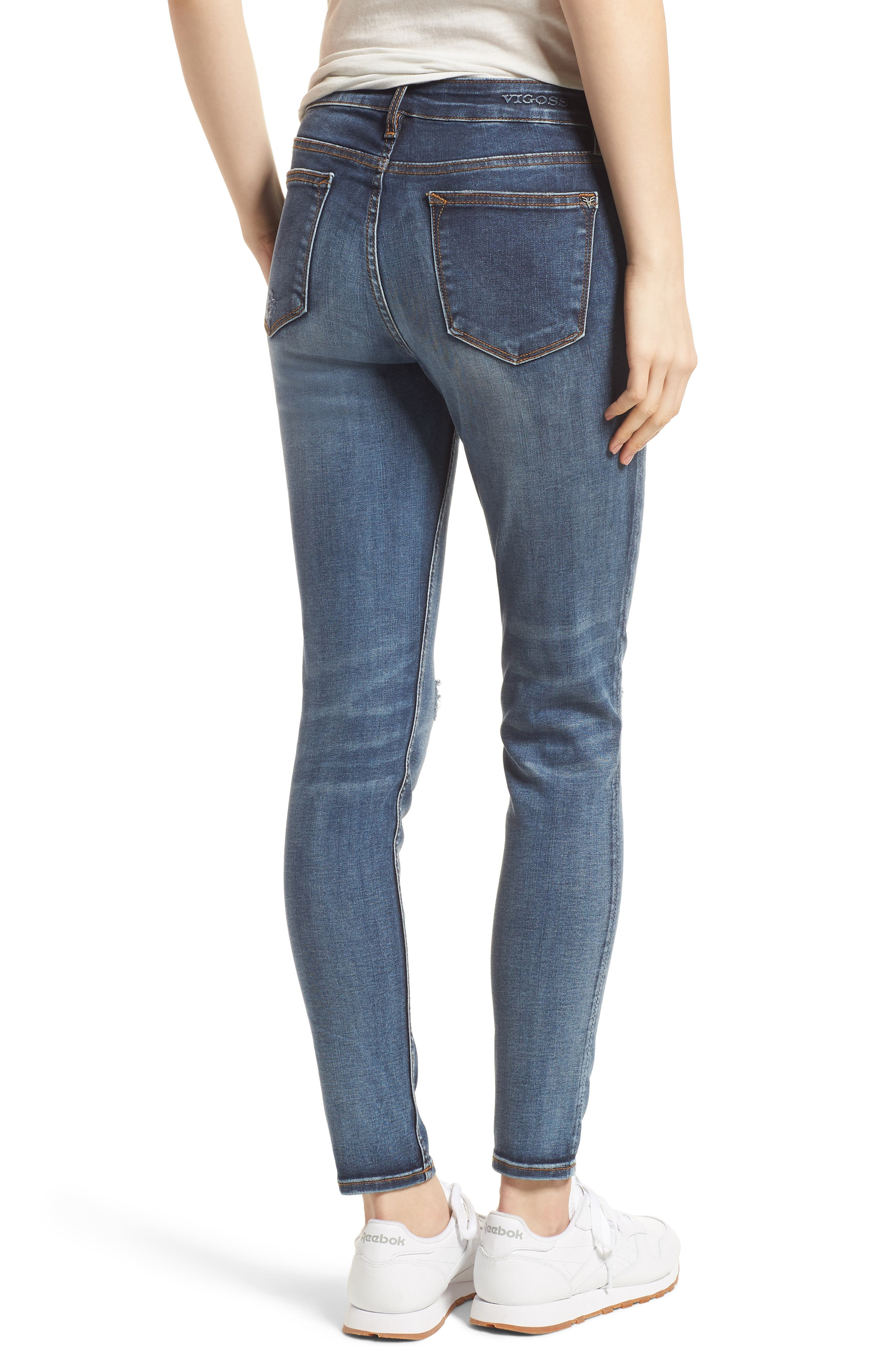 Jagger Ripped Skinny Jeans,                             Alternate thumbnail 2, color,