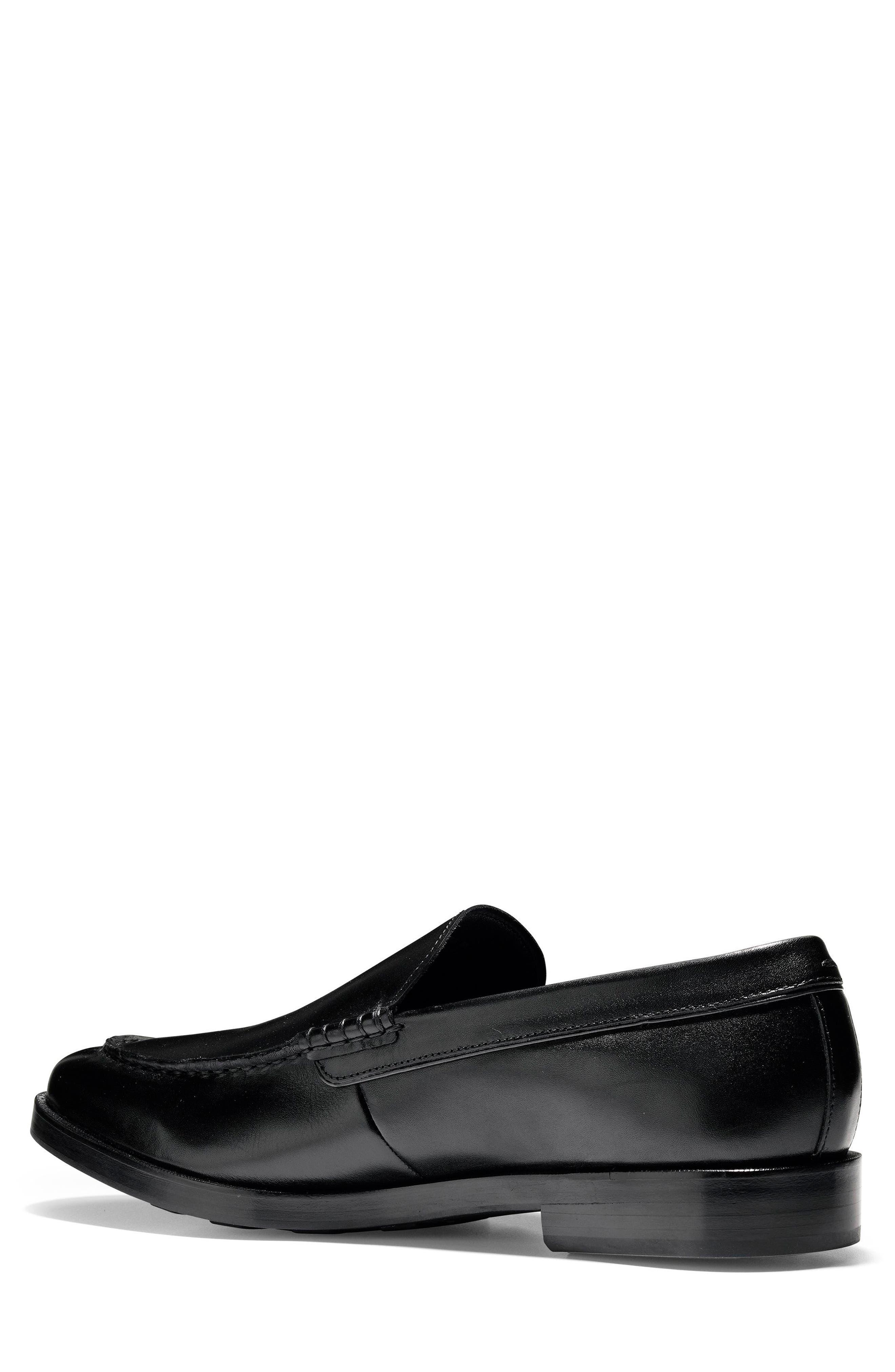 Hamilton Grand Venetian Loafer,                             Alternate thumbnail 2, color,                             BLACK
