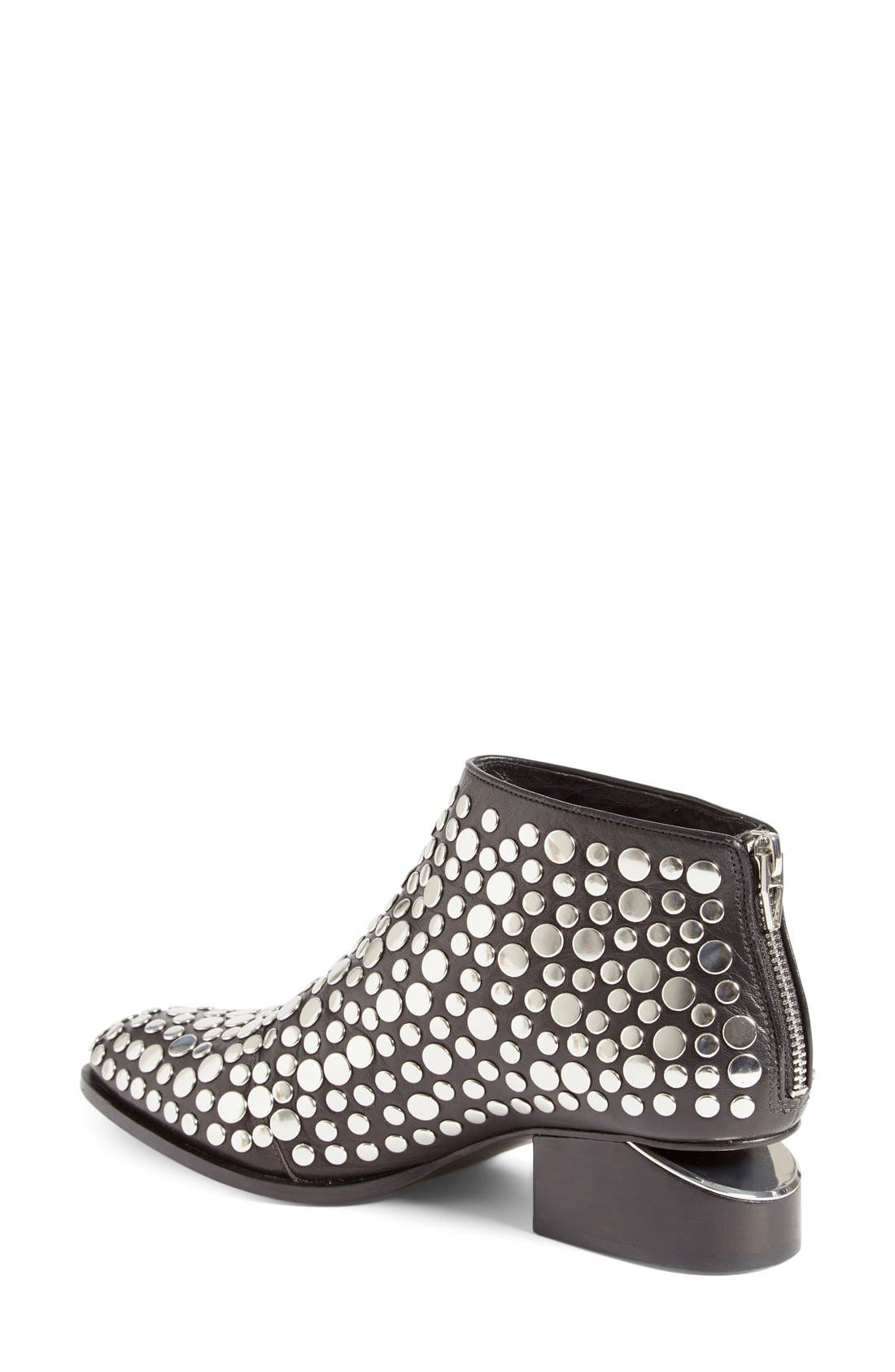 'Kori' Studded Bootie,                             Alternate thumbnail 3, color,                             001