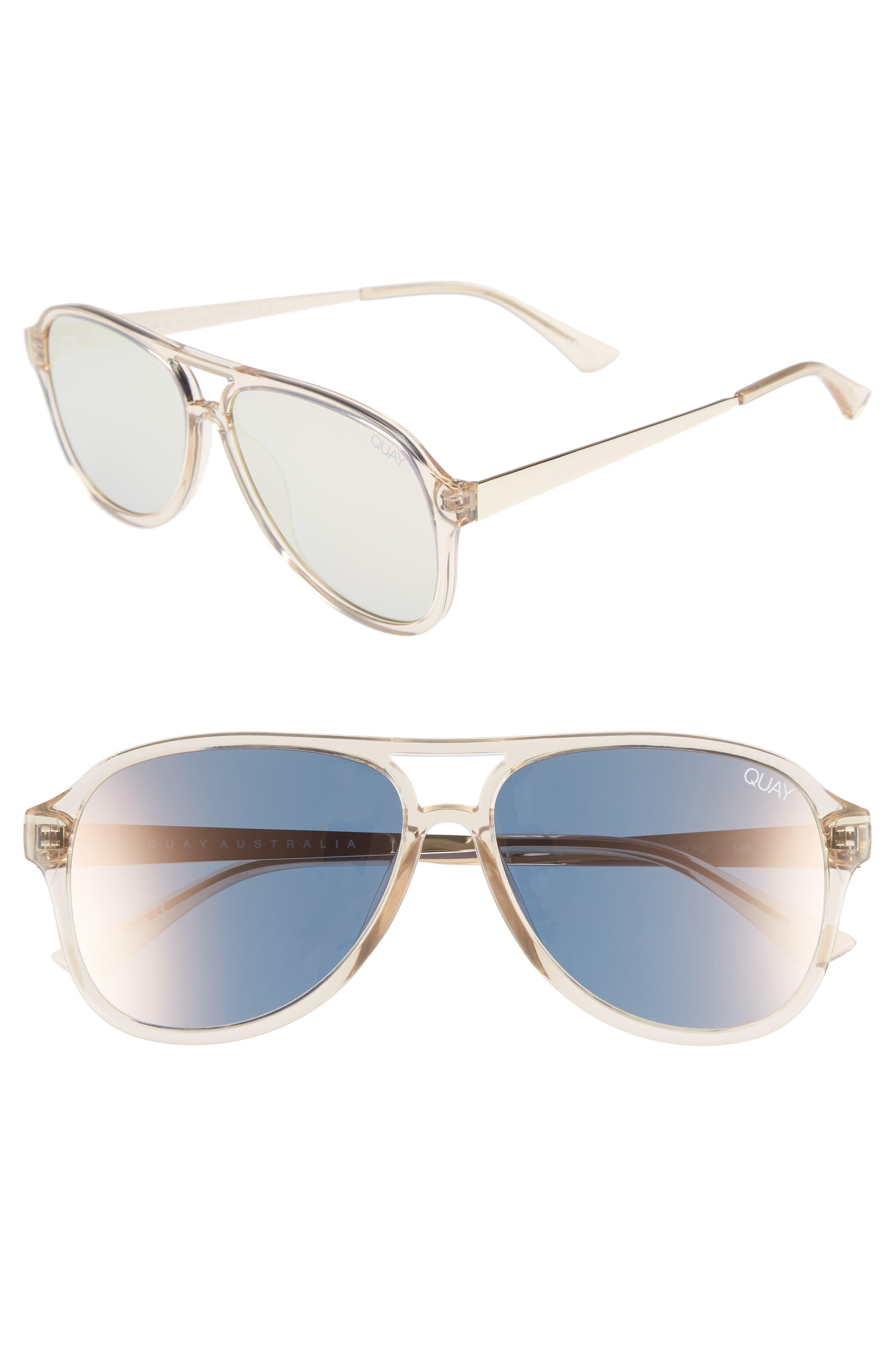 Quay Australia Under Pressure 5m Aviator Sunglasses -