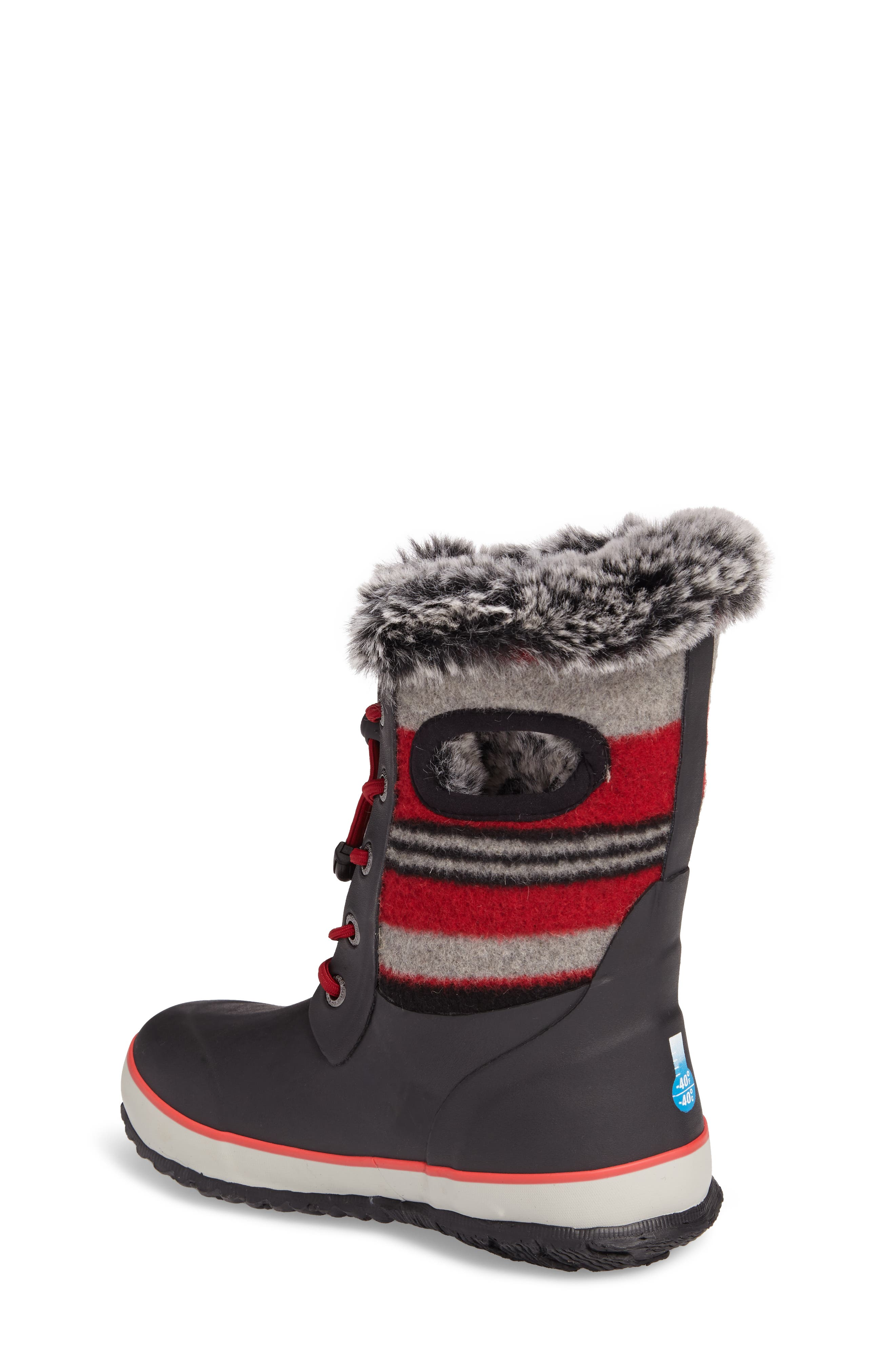 Arcata Stripe Waterproof Insulated Faux Fur Boot,                             Alternate thumbnail 6, color,