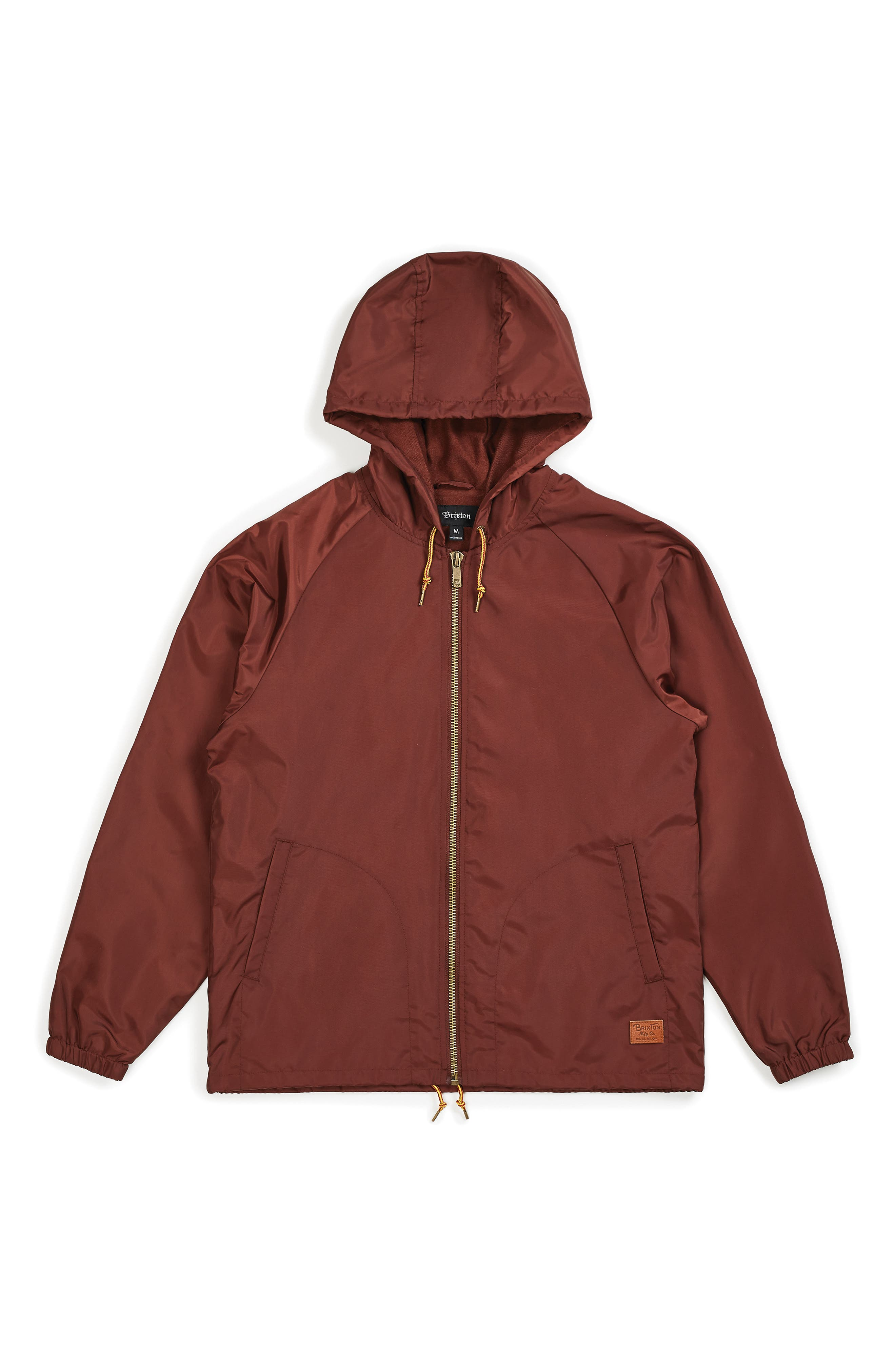 Claxton Water Repellent Hooded Windbreaker,                             Alternate thumbnail 4, color,                             CHESTNUT