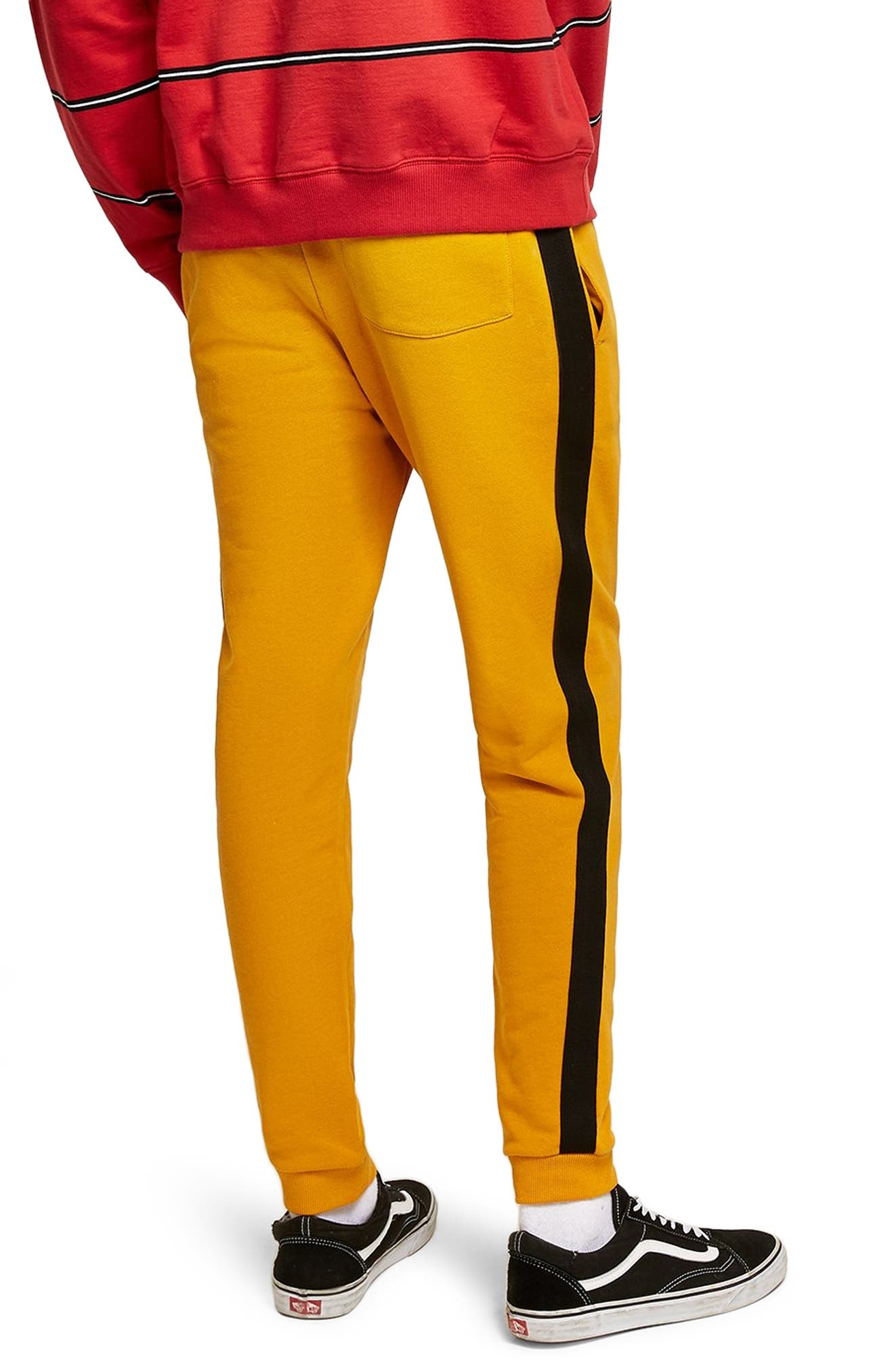 Classic Fit Side Tape Joggers,                             Alternate thumbnail 2, color,                             YELLOW MULTI