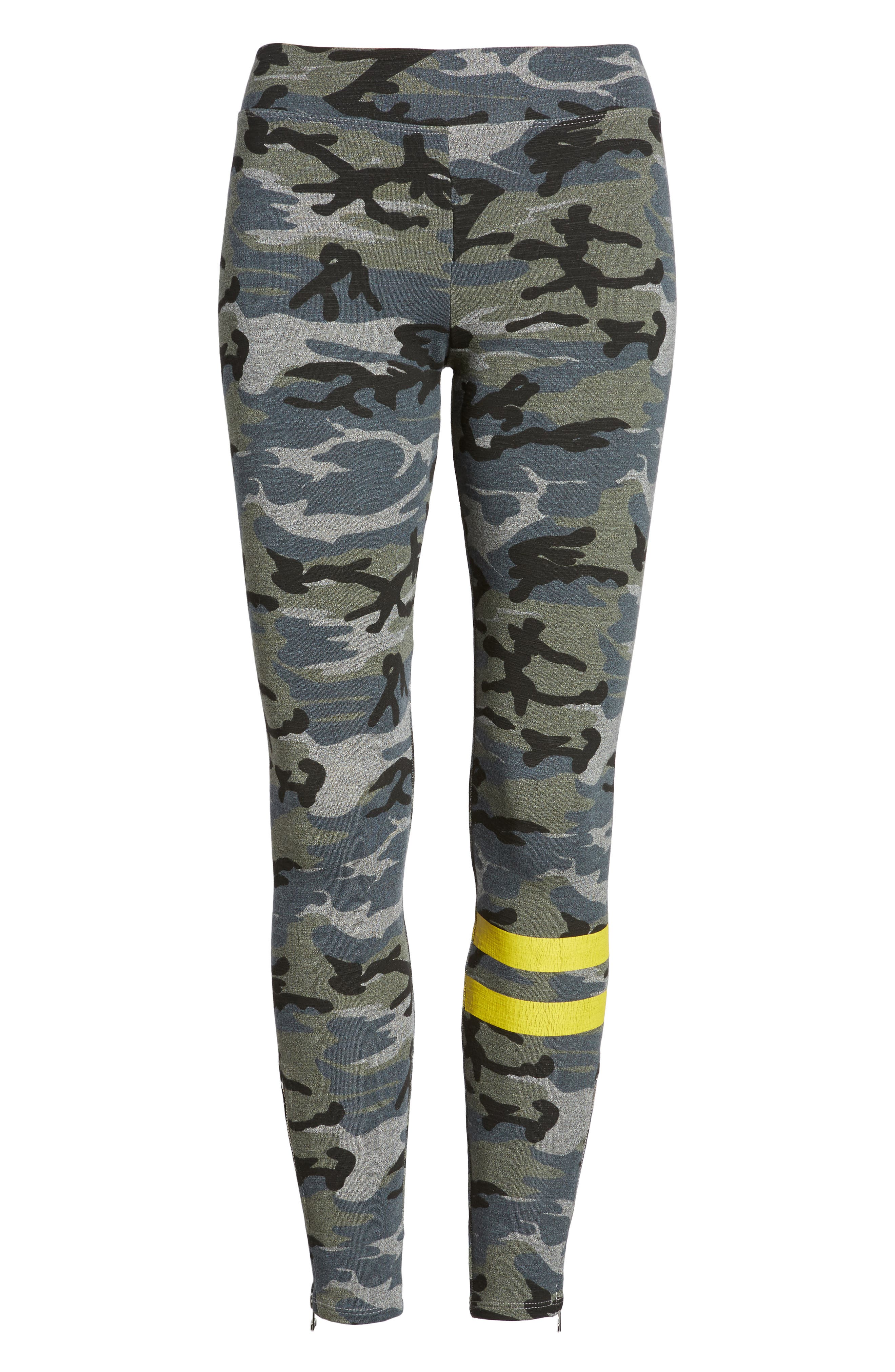Stripe Camo Yoga Pants,                             Alternate thumbnail 7, color,                             020