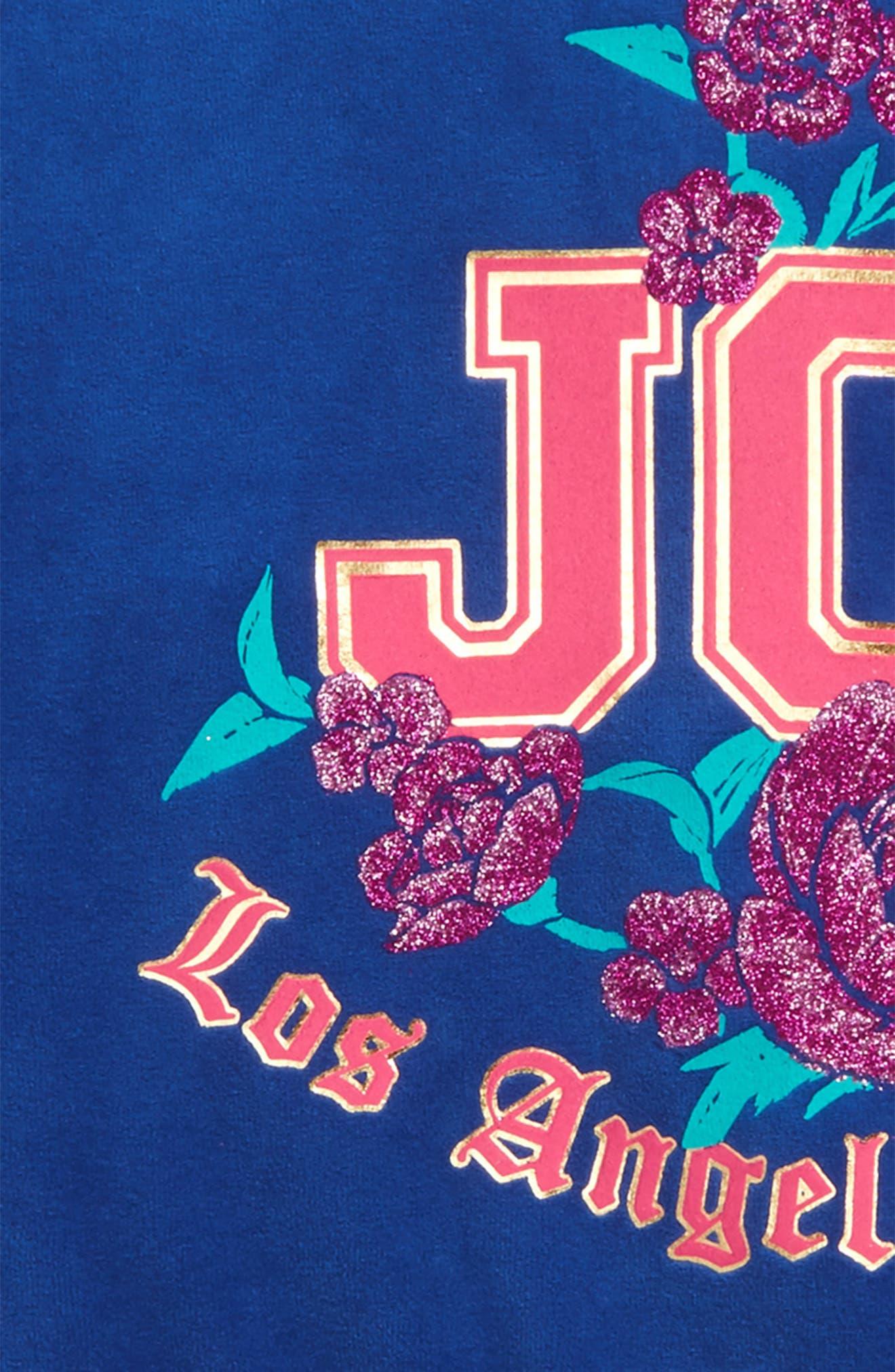 JUICY COUTURE,                             Floral Enchantment Track Jacket,                             Alternate thumbnail 3, color,                             428