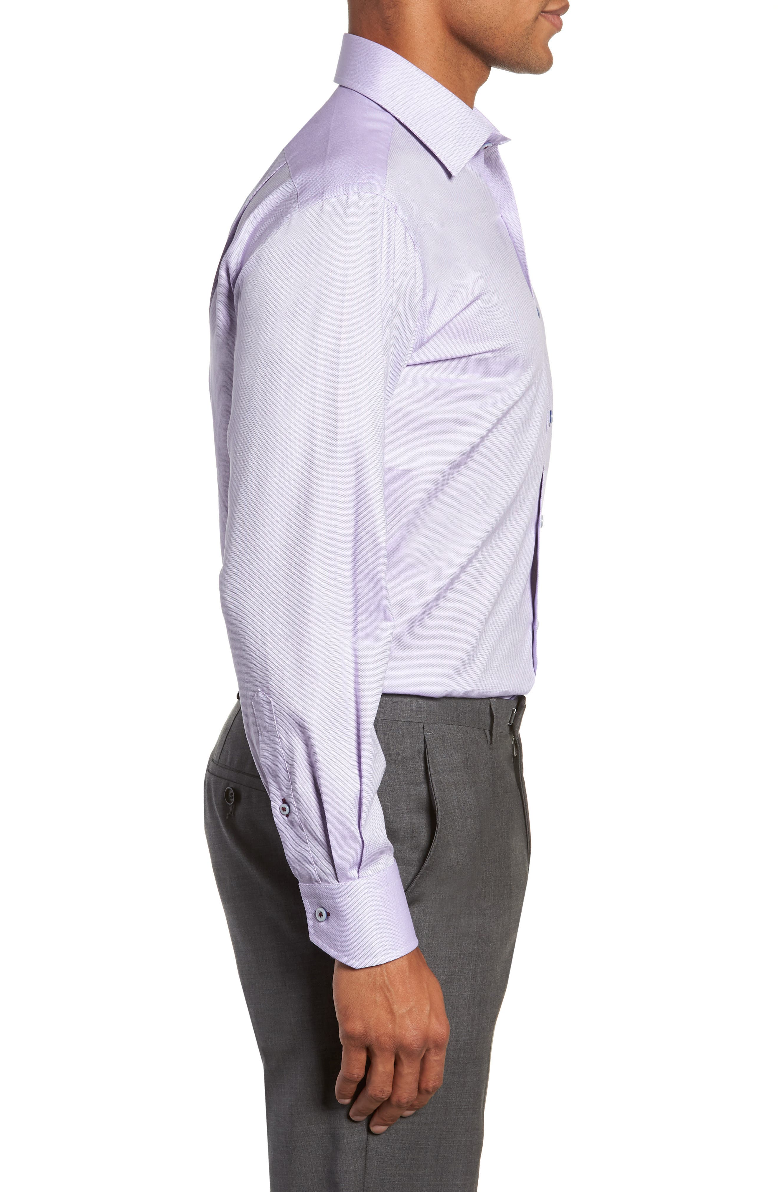 Trim Fit Solid Dress Shirt,                             Alternate thumbnail 4, color,                             530