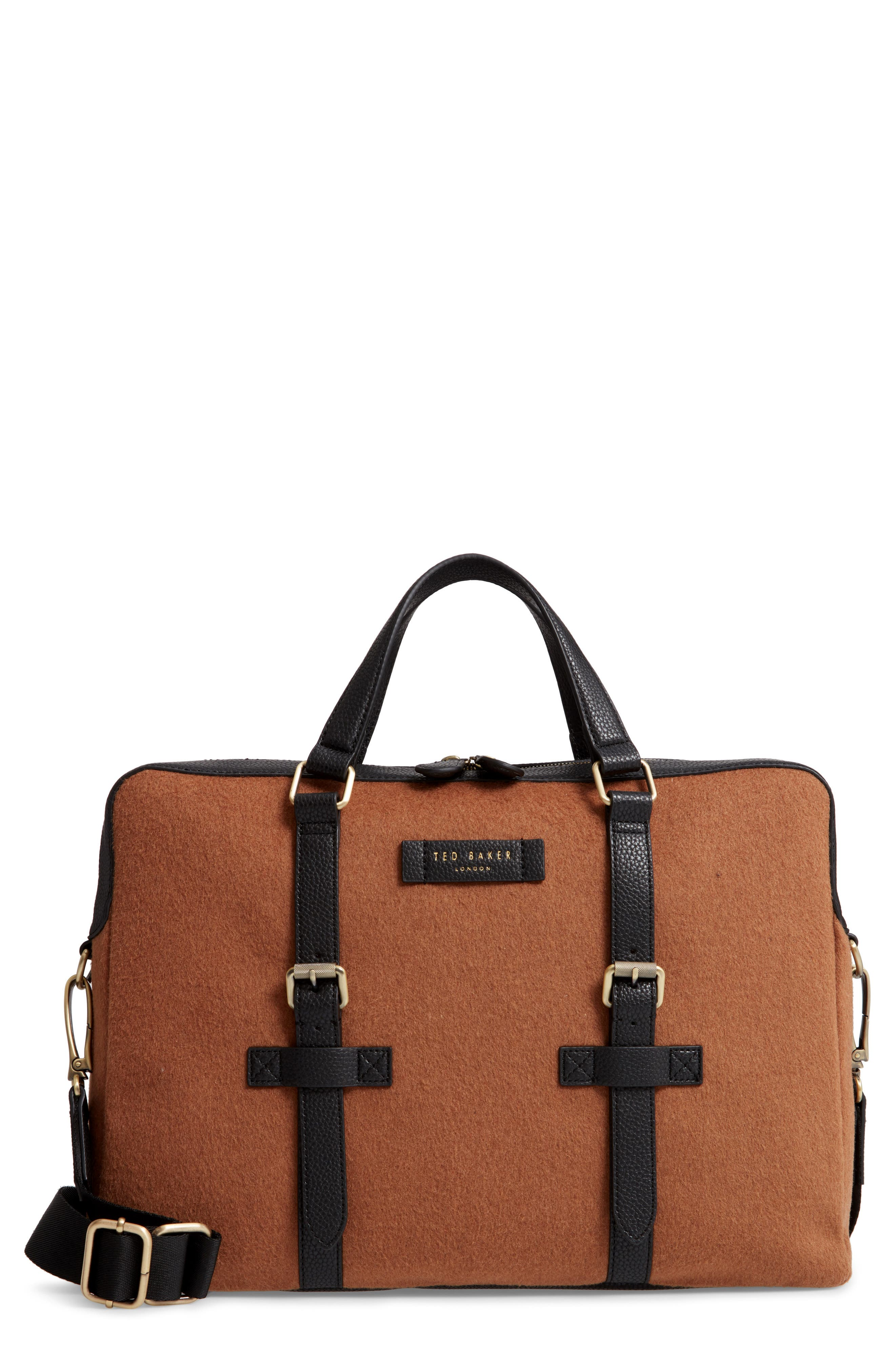 Cabble Briefcase - Brown in Camel