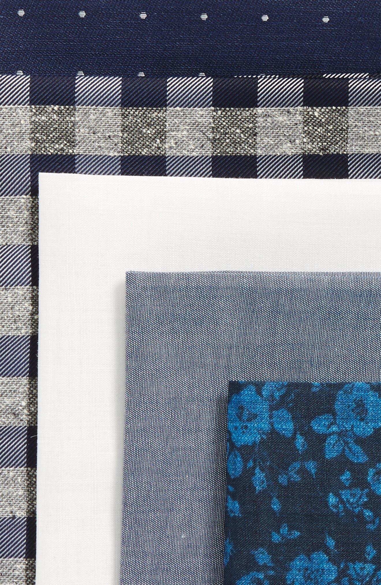 5-Pack Pocket Squares,                             Alternate thumbnail 3, color,