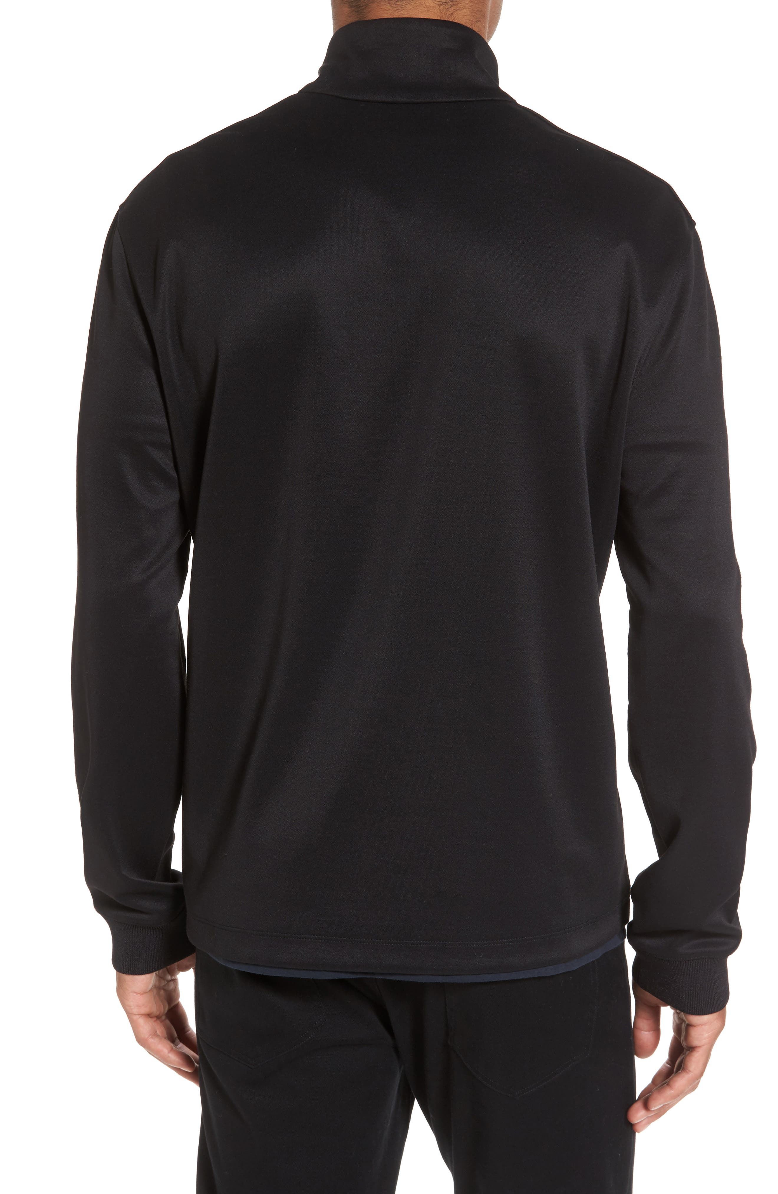 Quarter Zip Jacket,                             Alternate thumbnail 2, color,                             001