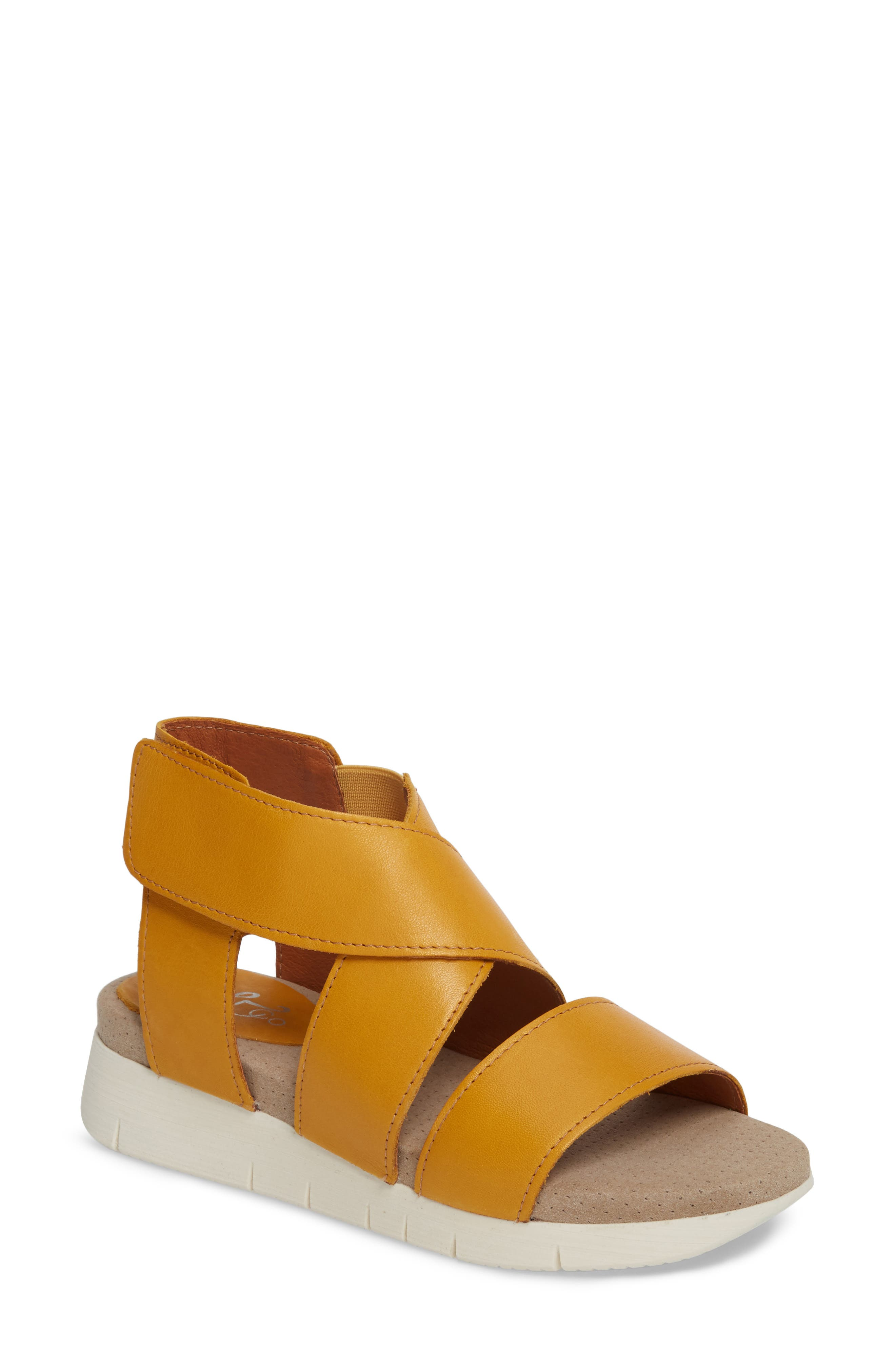 Bos. & Co. Piper Wedge Sandal - Yellow