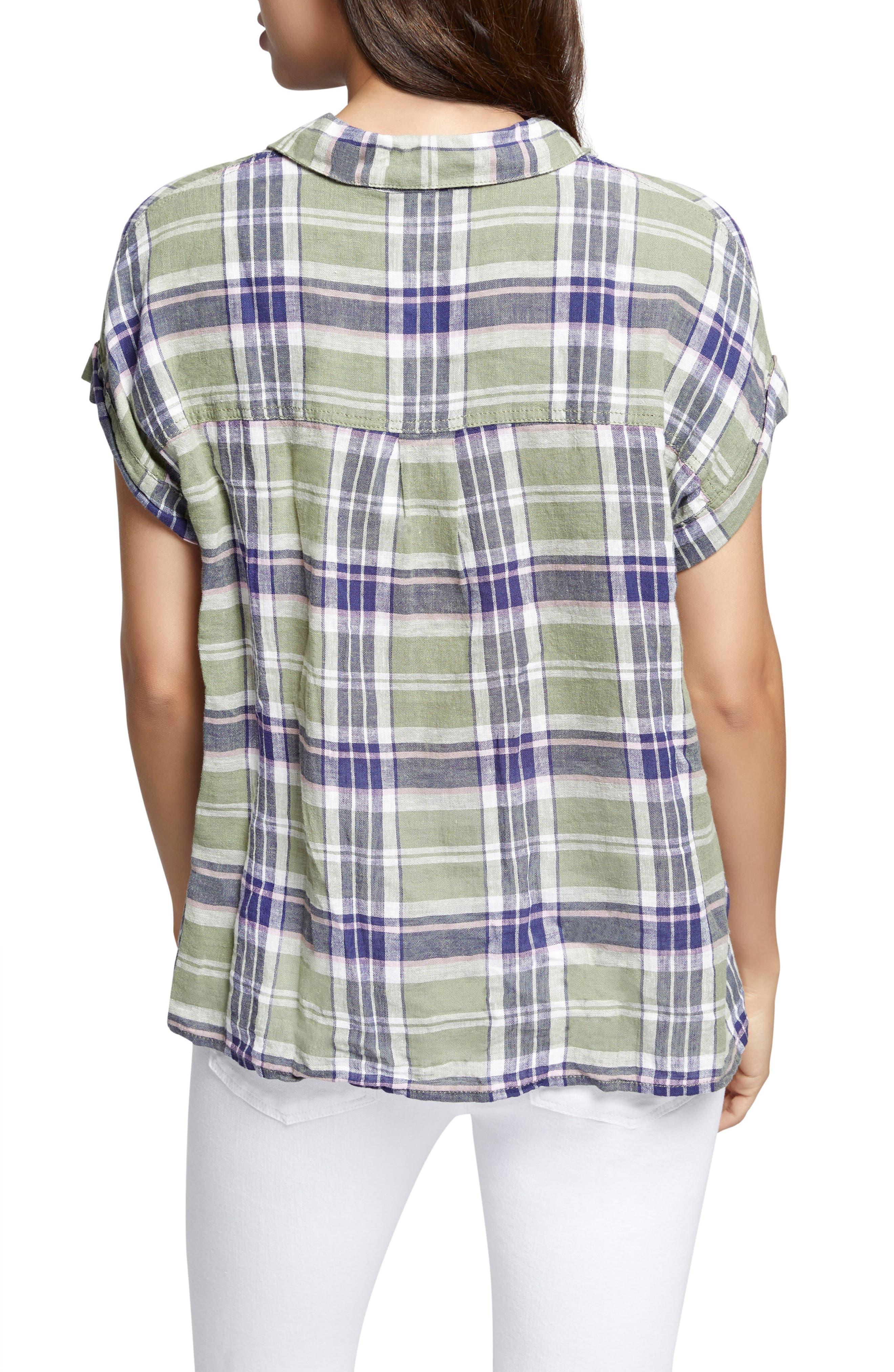 Mod Short Sleeve Boyfriend Shirt,                             Alternate thumbnail 9, color,