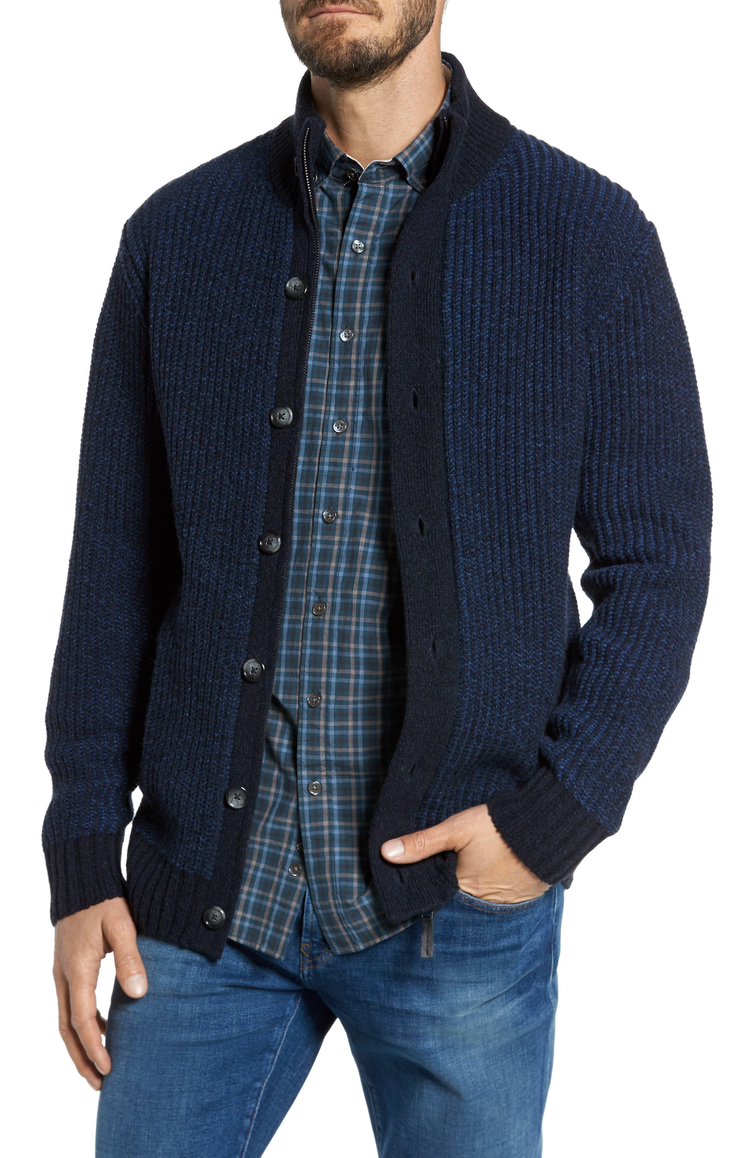Fratley Lambswool Blend Cardigan, Main, color, MARINE