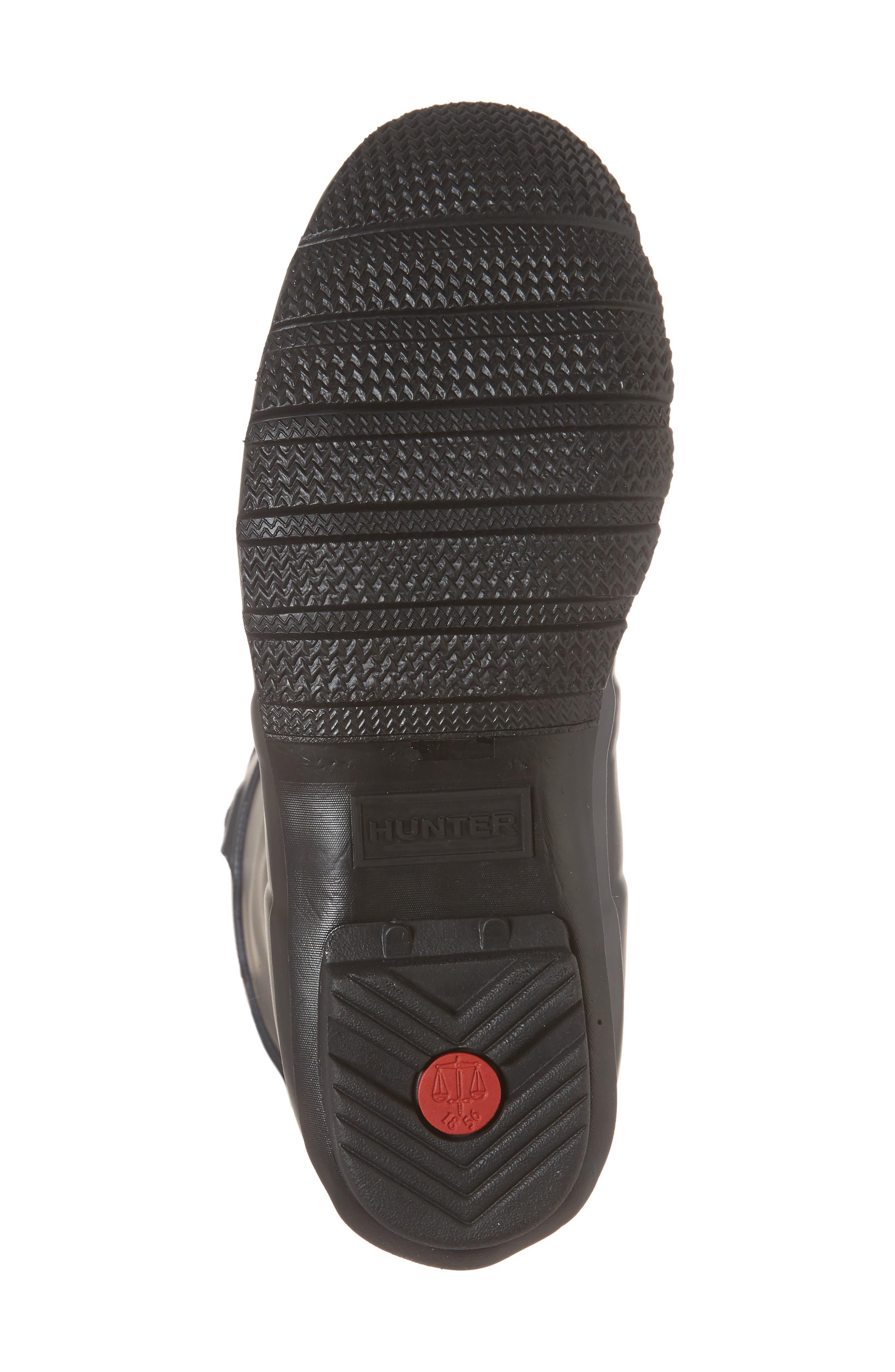 HUNTER,                             Original Short Waterproof Rain Boot,                             Alternate thumbnail 6, color,                             001