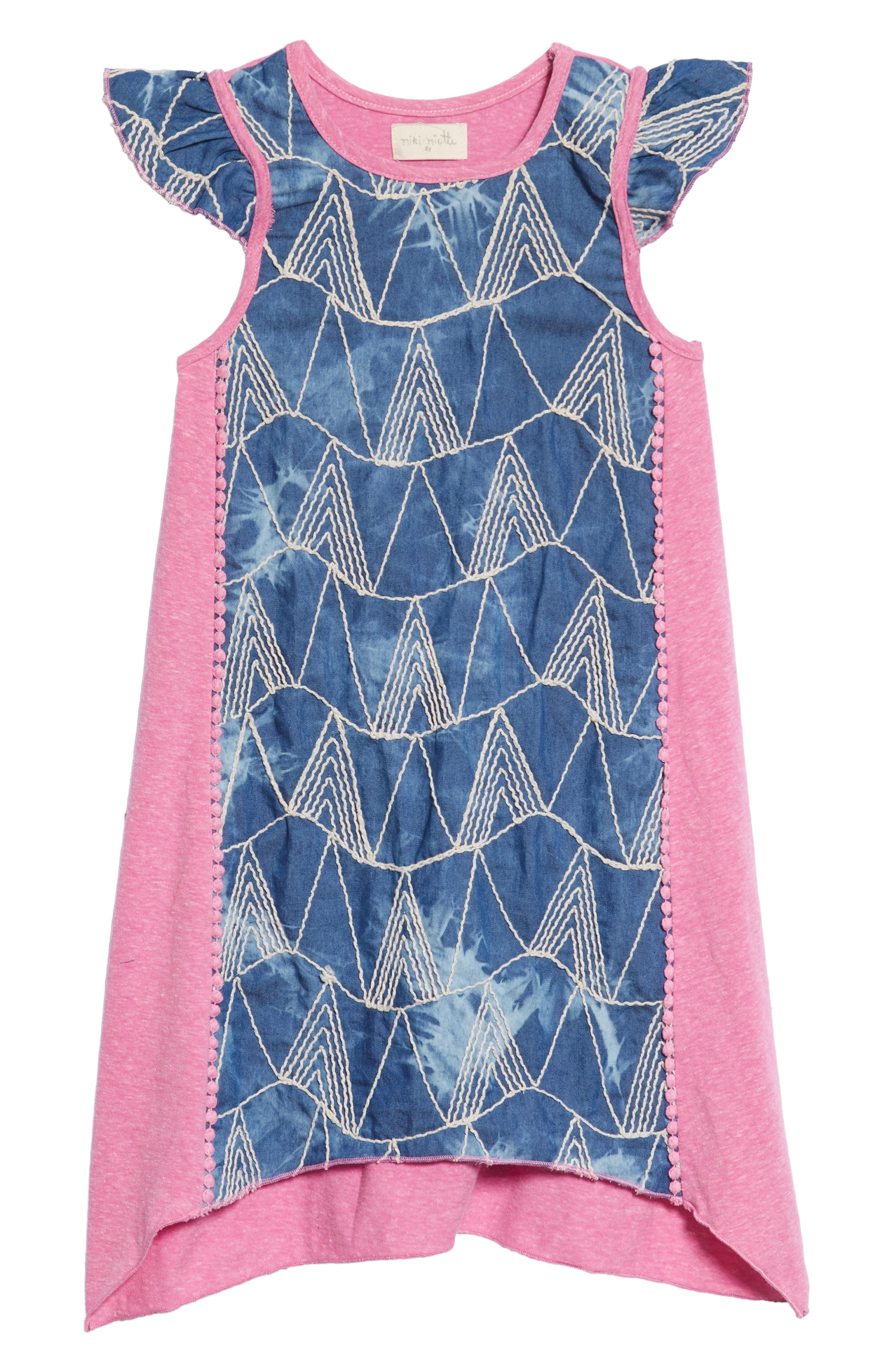 Mikki Miette India Embroidered Dress,                             Main thumbnail 1, color,                             400