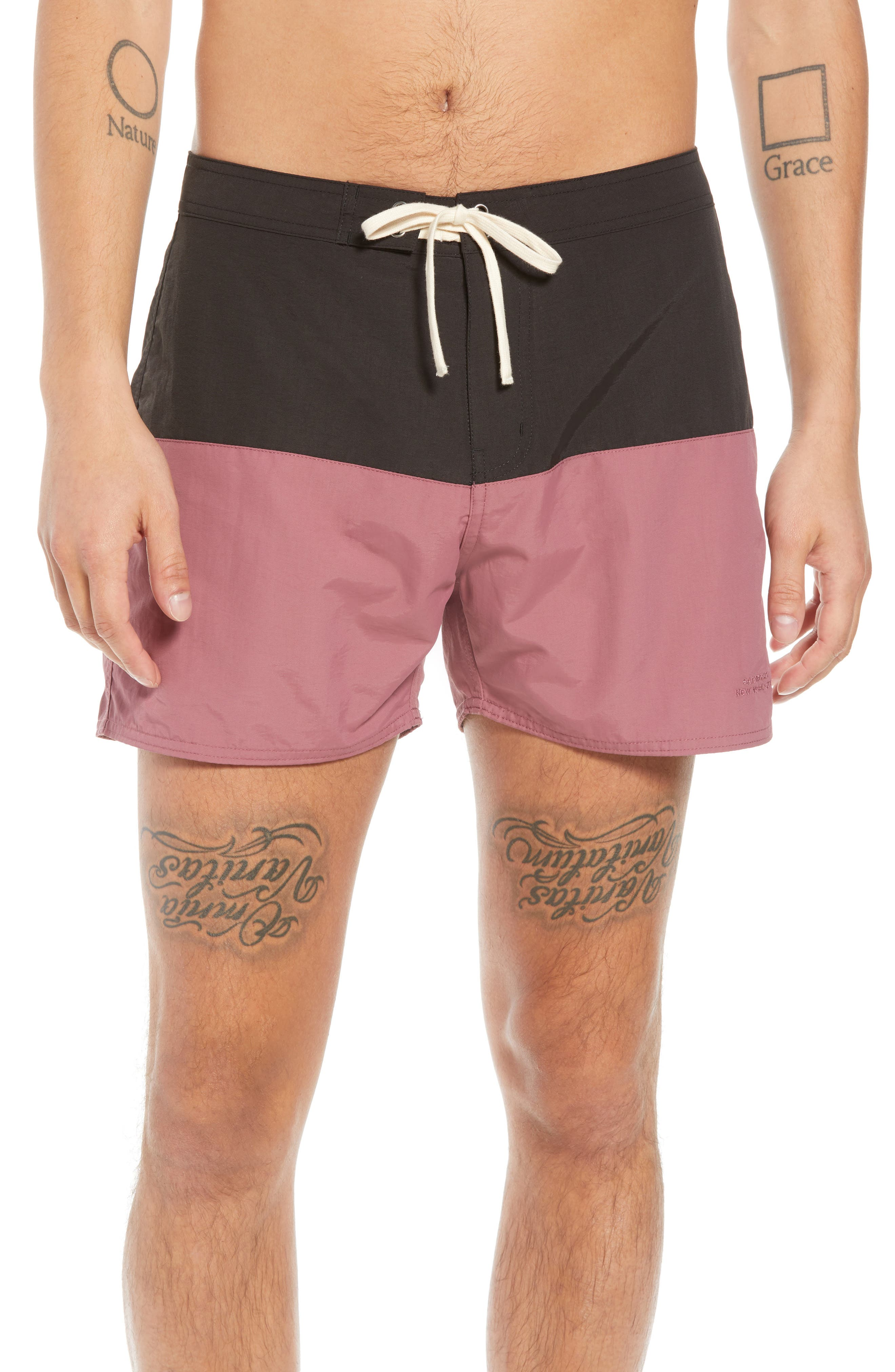 Ennis Colorblock Swim Trunks,                         Main,                         color, 001