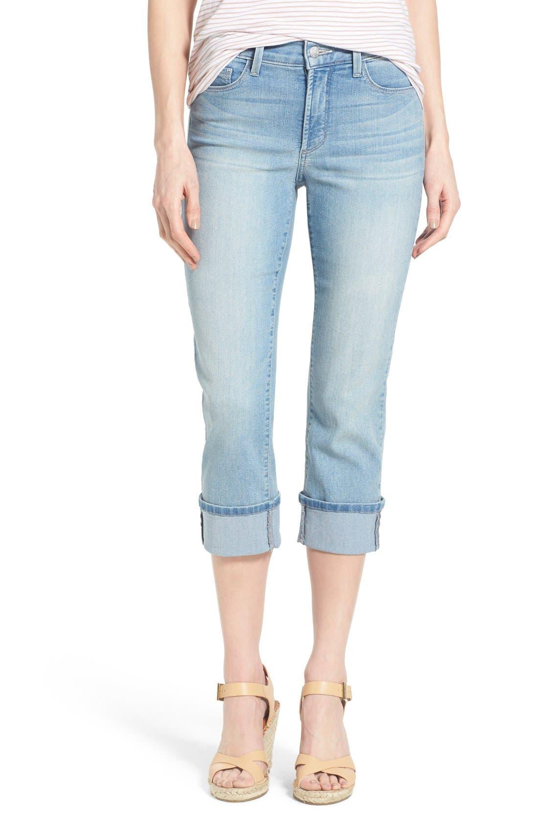 'Dayla' Colored Wide Cuff Capri Jeans,                             Main thumbnail 12, color,