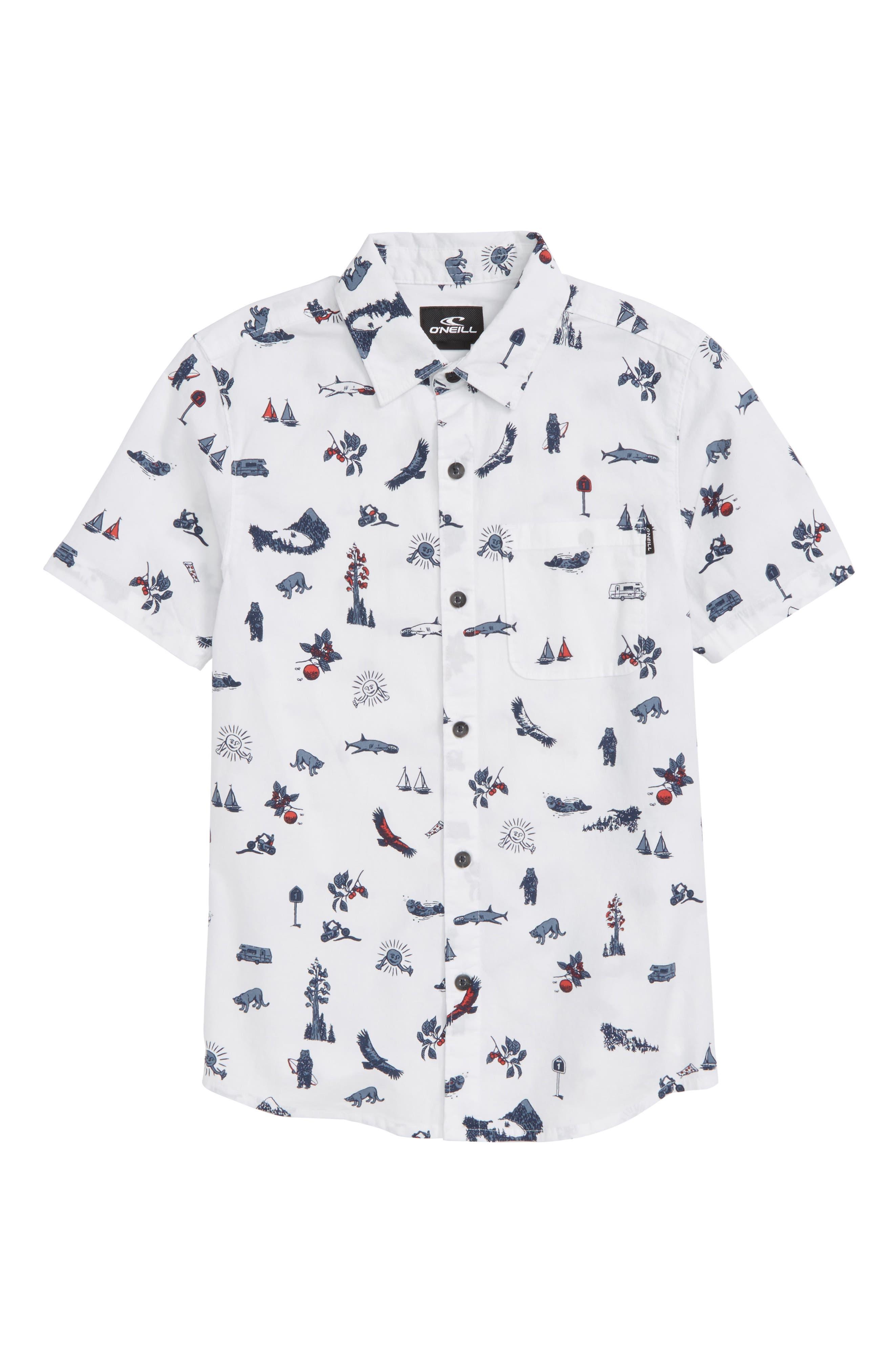 Squawker Woven Shirt,                             Main thumbnail 1, color,                             100