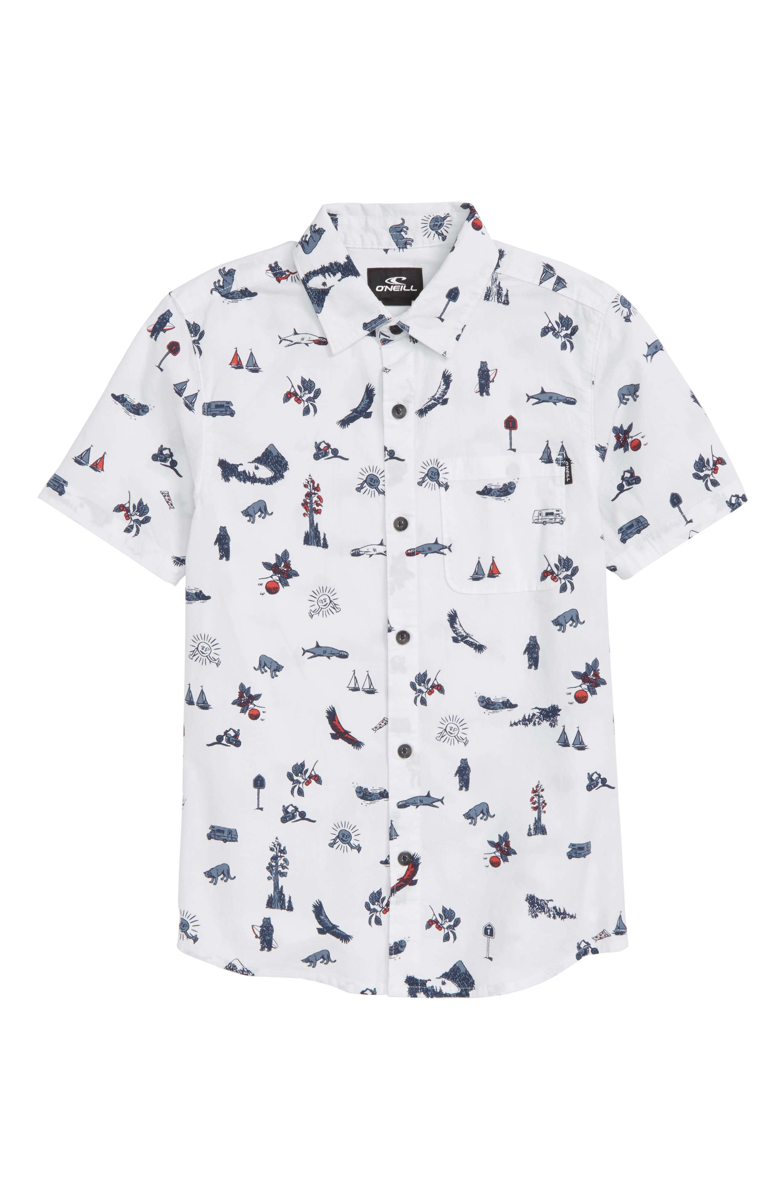 Squawker Woven Shirt,                         Main,                         color, 100