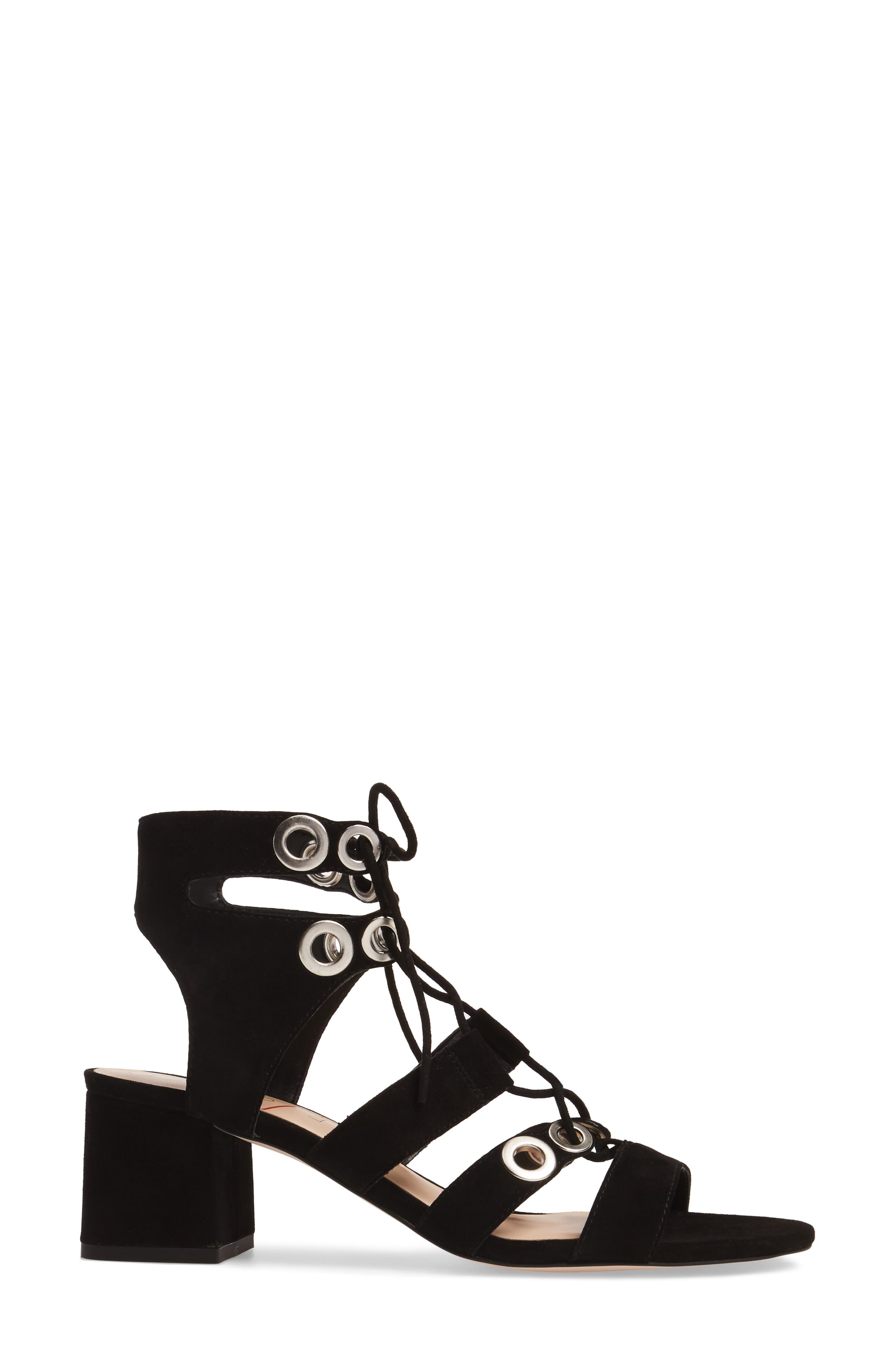 Rosemary Lace-Up Sandal,                             Alternate thumbnail 3, color,                             003