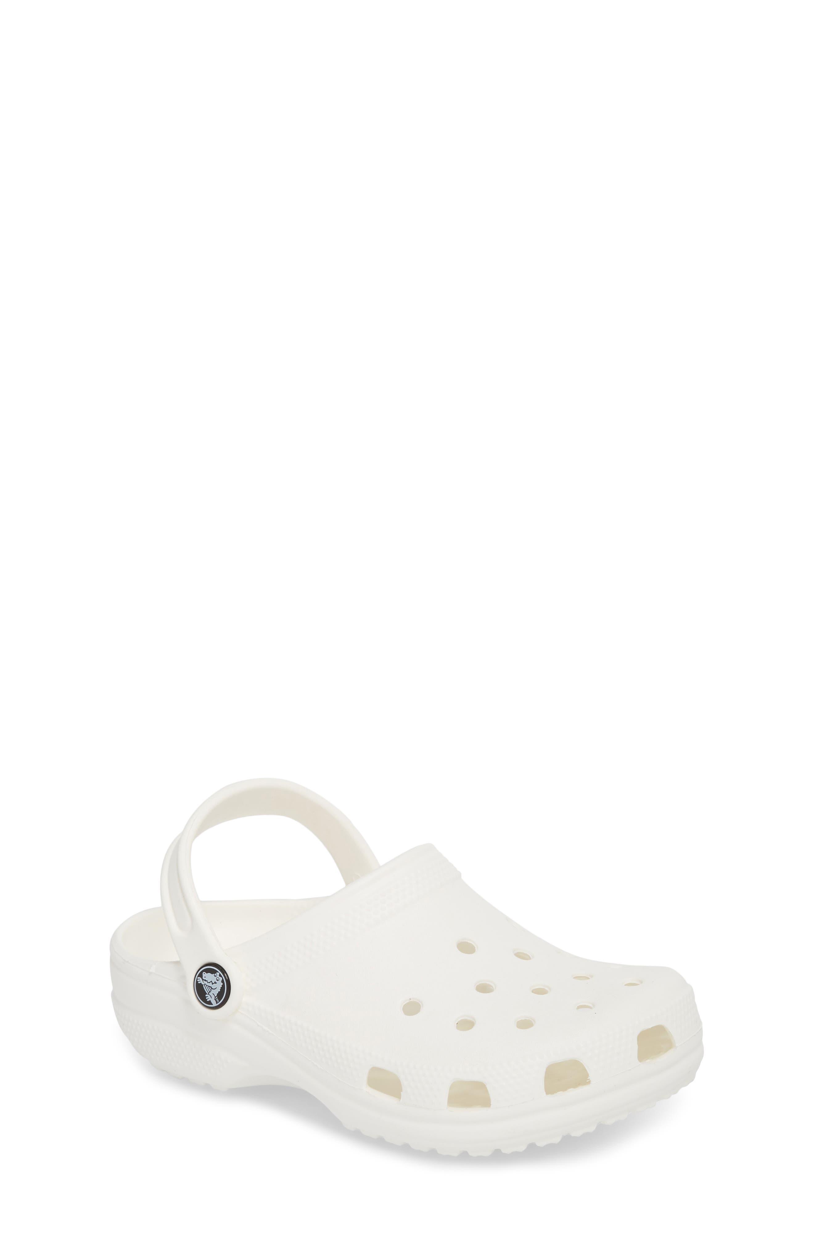 Classic Clog Sandal,                         Main,                         color, WHITE