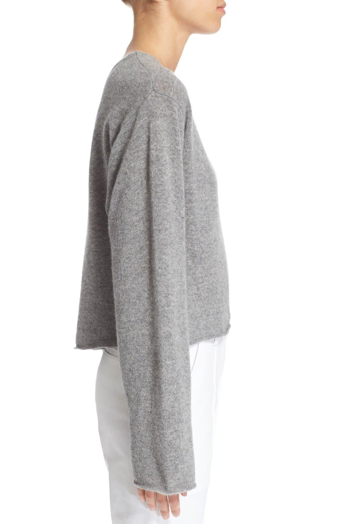 'Martin' Cashmere Crop Sweater,                             Alternate thumbnail 5, color,                             020
