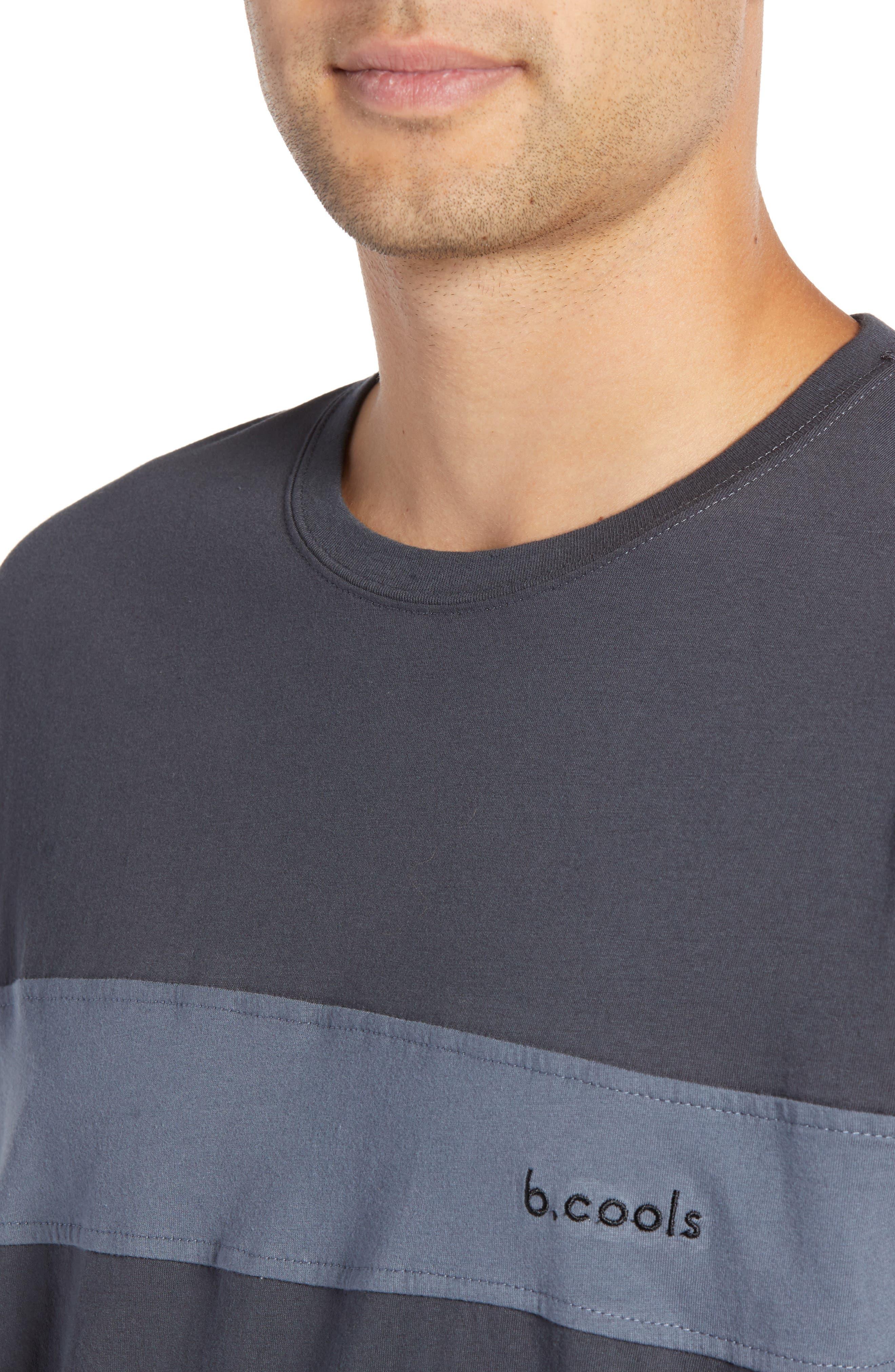 BARNEY COOLS,                             B Quick Colorblock Long Sleeve T-Shirt,                             Alternate thumbnail 4, color,                             001