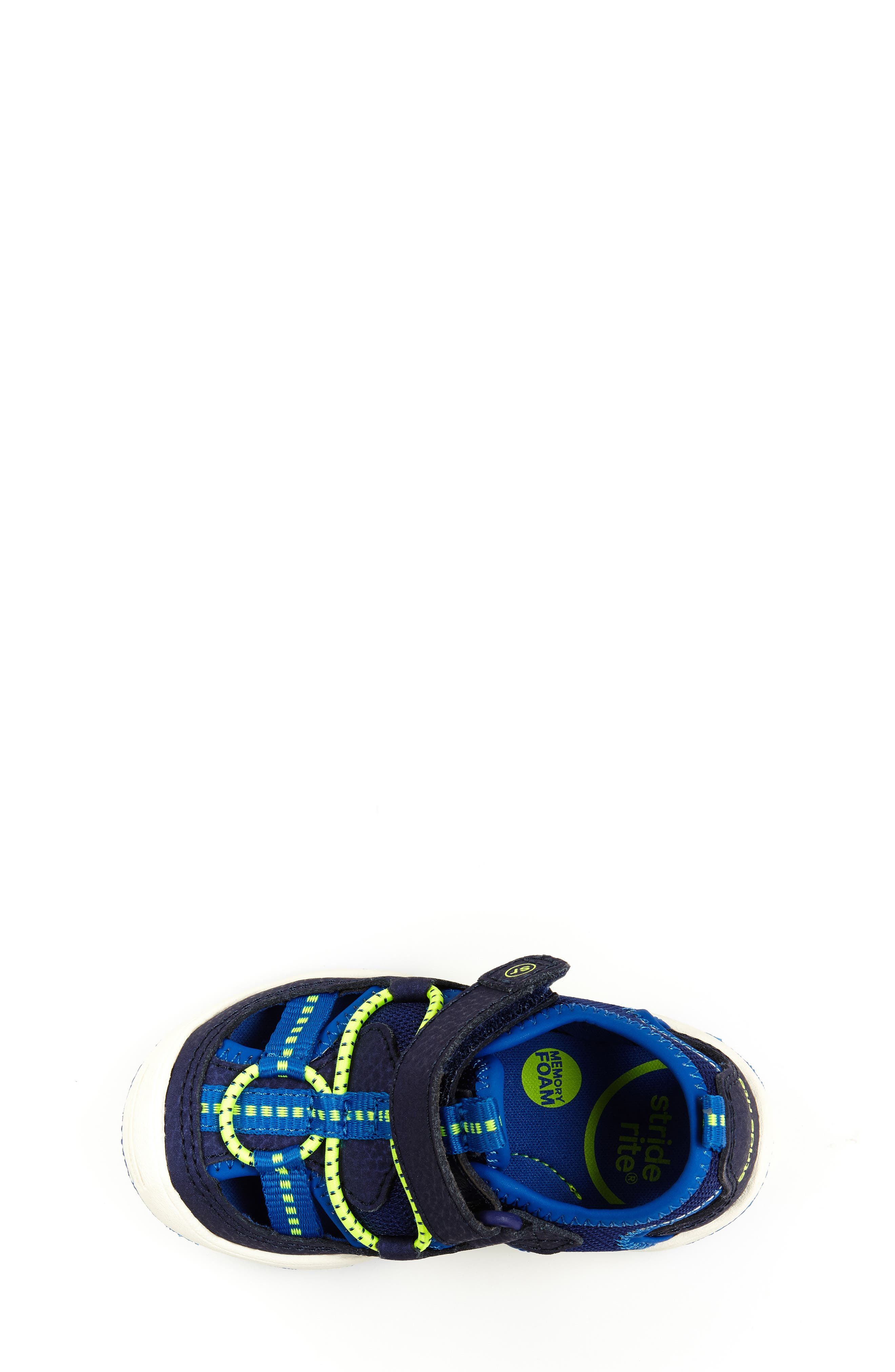STRIDE RITE,                             Marina Water Sandal,                             Alternate thumbnail 4, color,                             ELECTRIC BLUE LEATHER/ TEXTILE