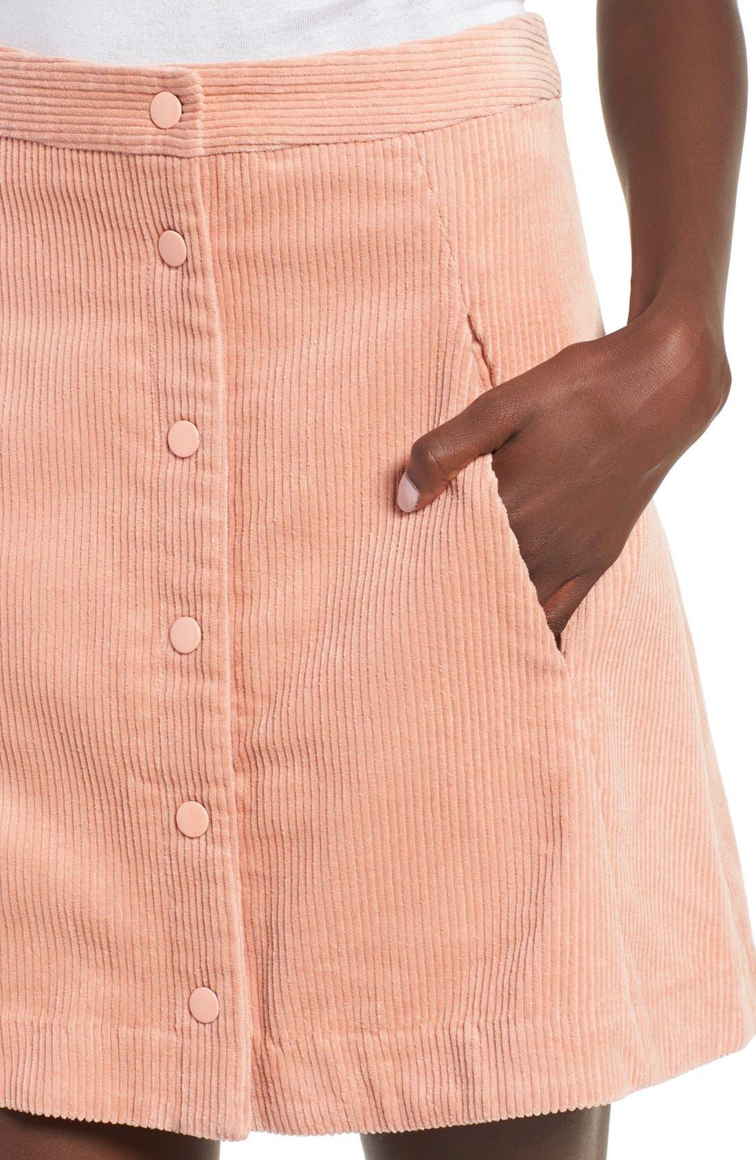Irene Corduroy Miniskirt,                             Alternate thumbnail 5, color,                             650