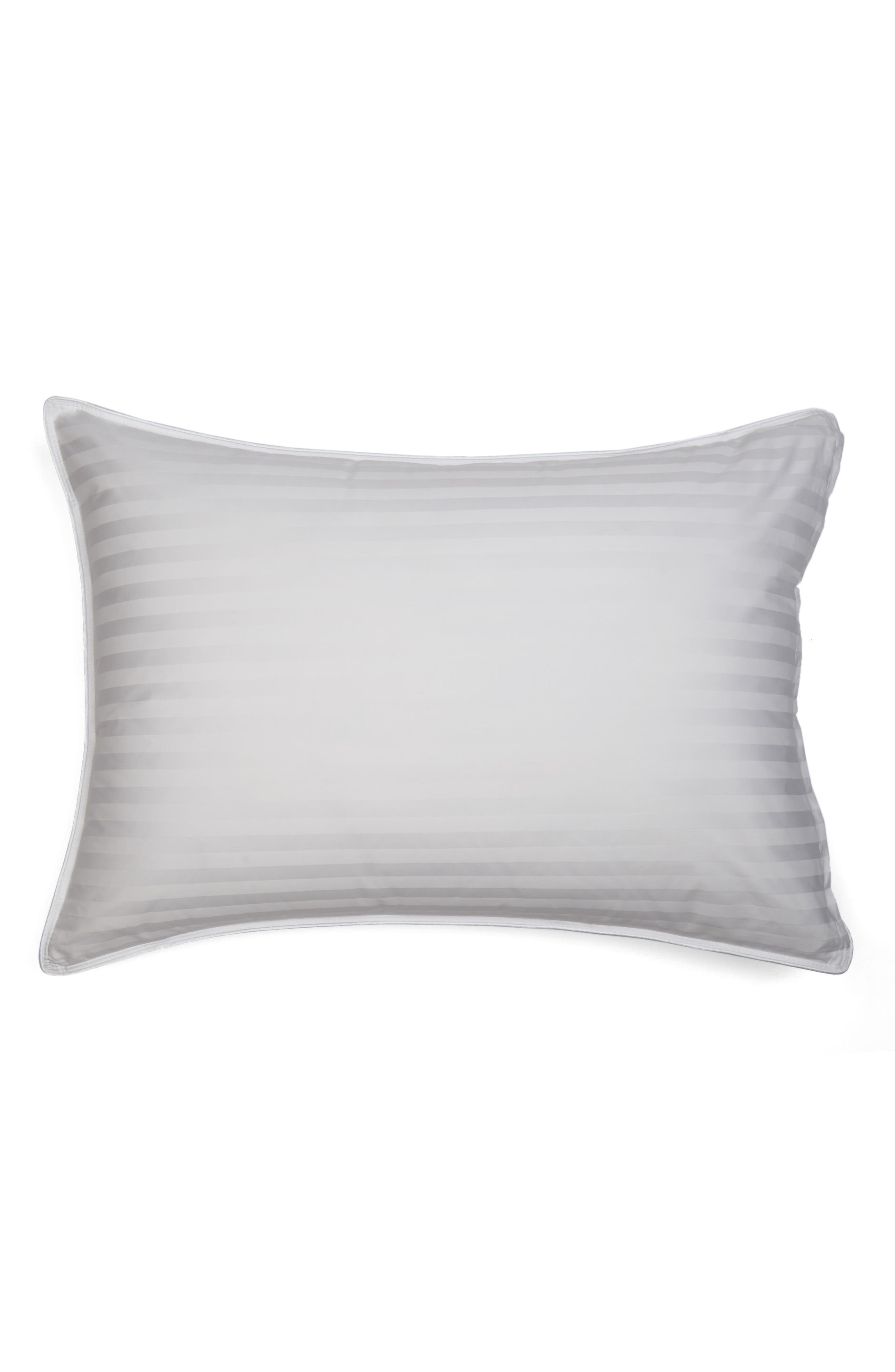 Feather & Down Chamber Pillow,                             Main thumbnail 1, color,                             WHITE