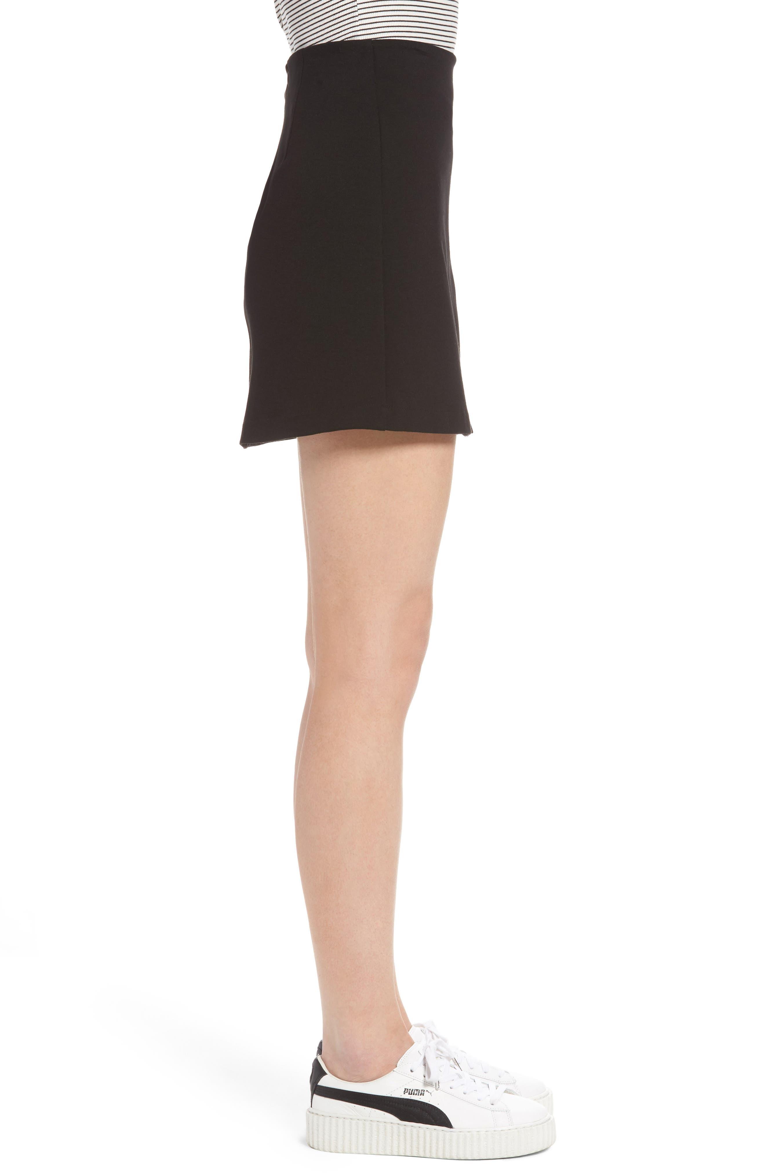Grommet Lace-Up Miniskirt,                             Alternate thumbnail 3, color,