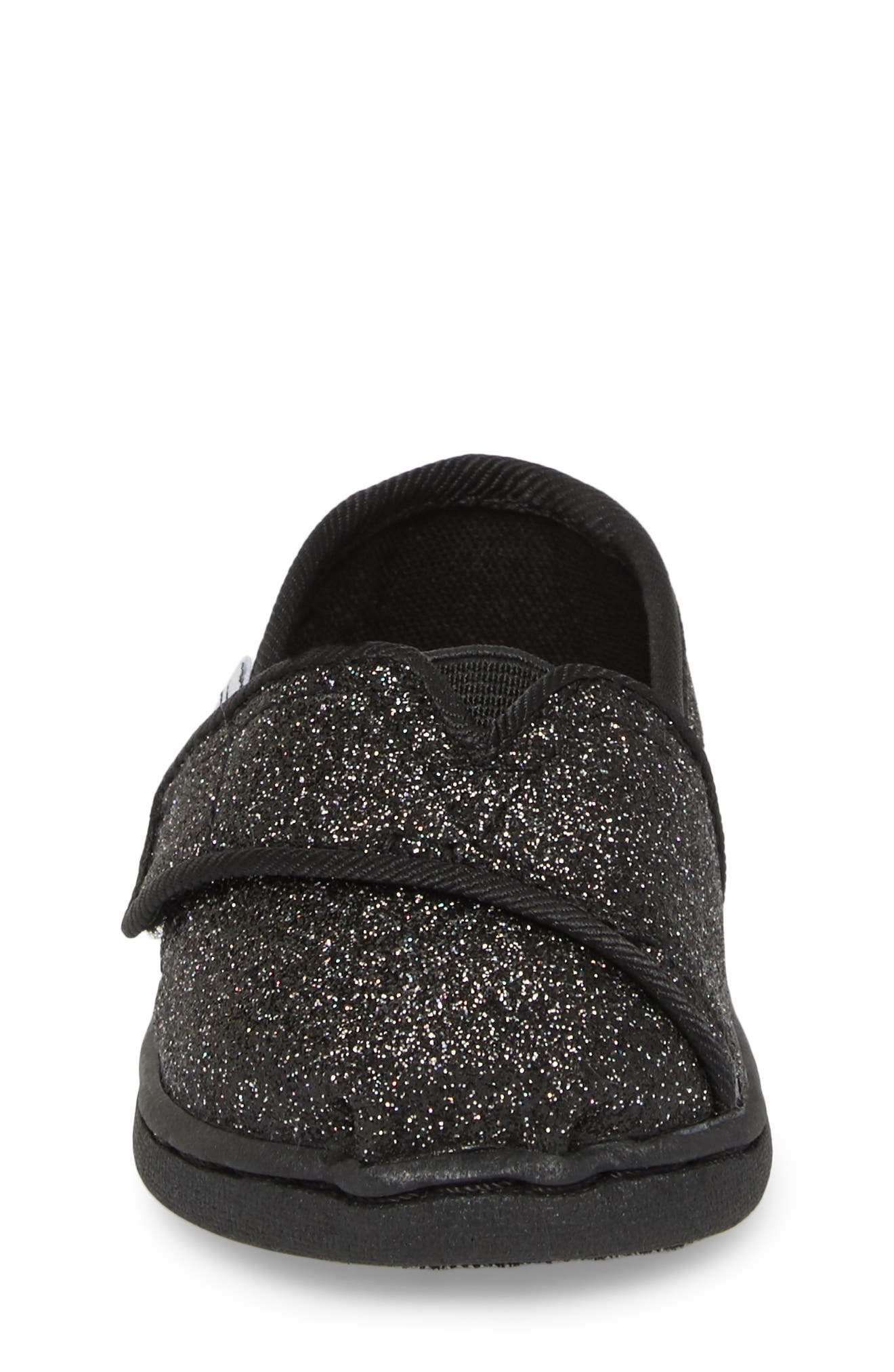 Alpargata Classic Print Slip-On,                             Alternate thumbnail 4, color,                             BLACK IRIDESCENT GLIMMER