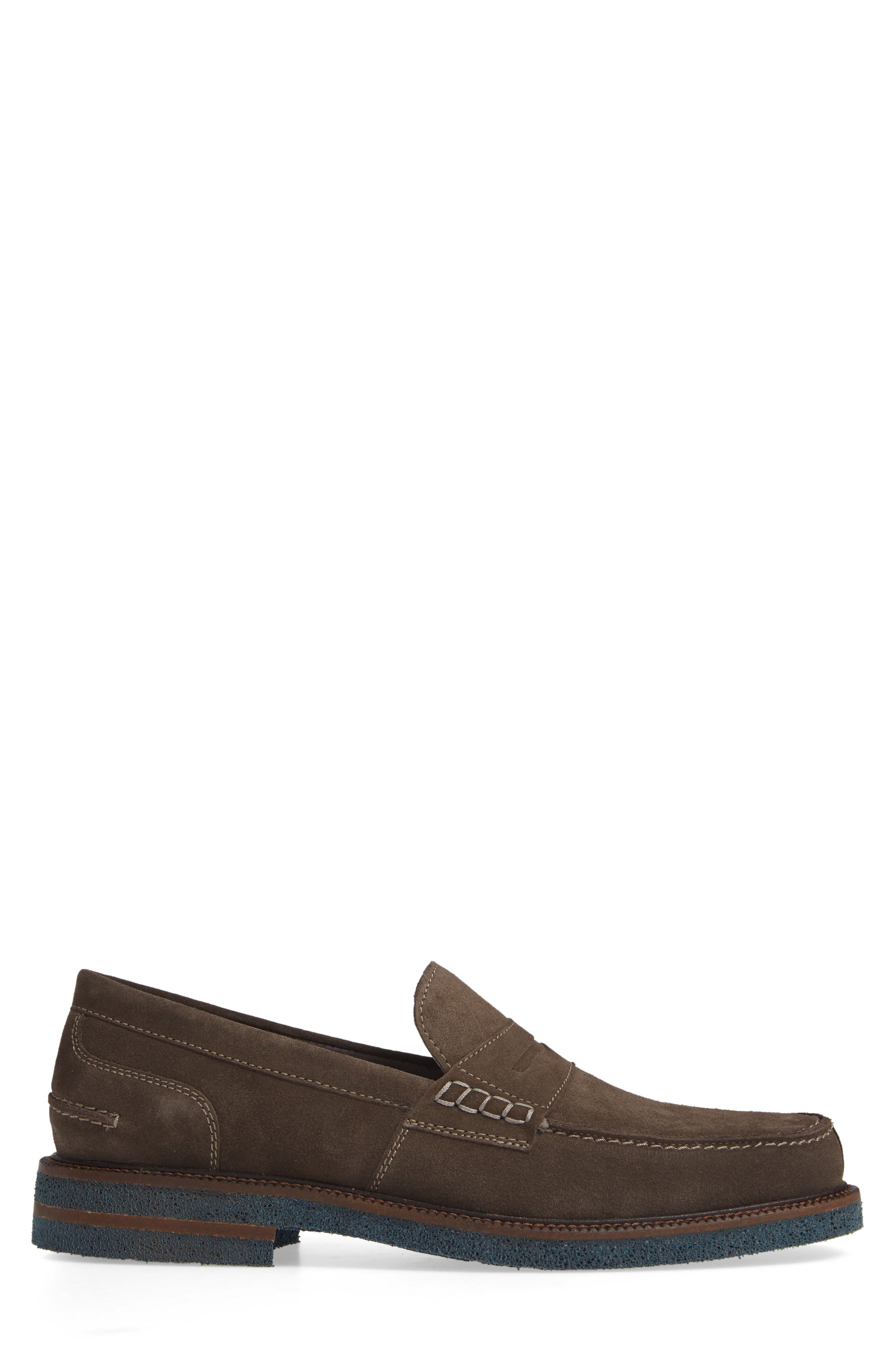 Landry Penny Loafer,                             Alternate thumbnail 3, color,                             GREY SUEDE