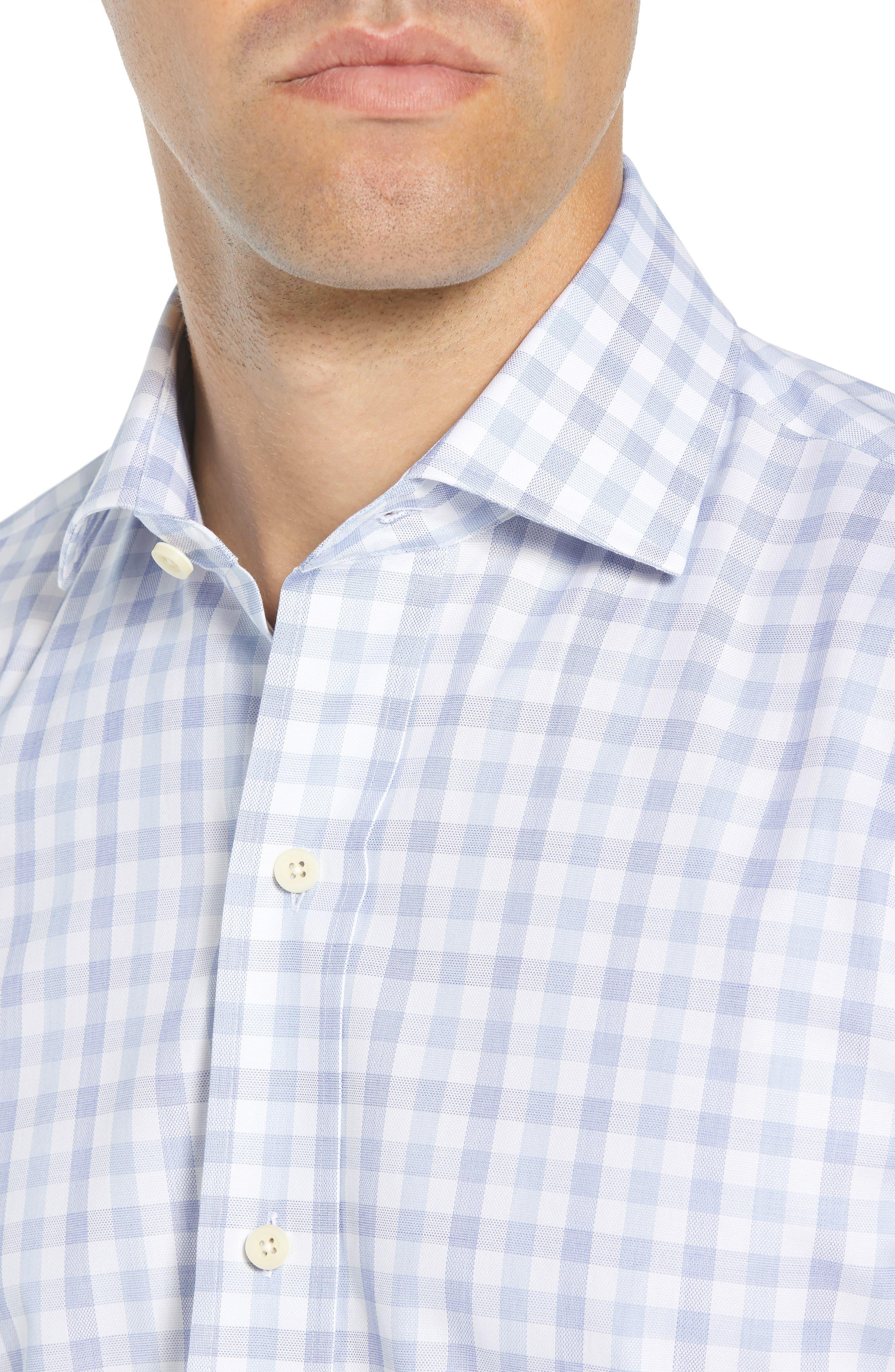 Corbly Trim Fit Check Dress Shirt,                             Alternate thumbnail 2, color,                             LIGHT BLUE
