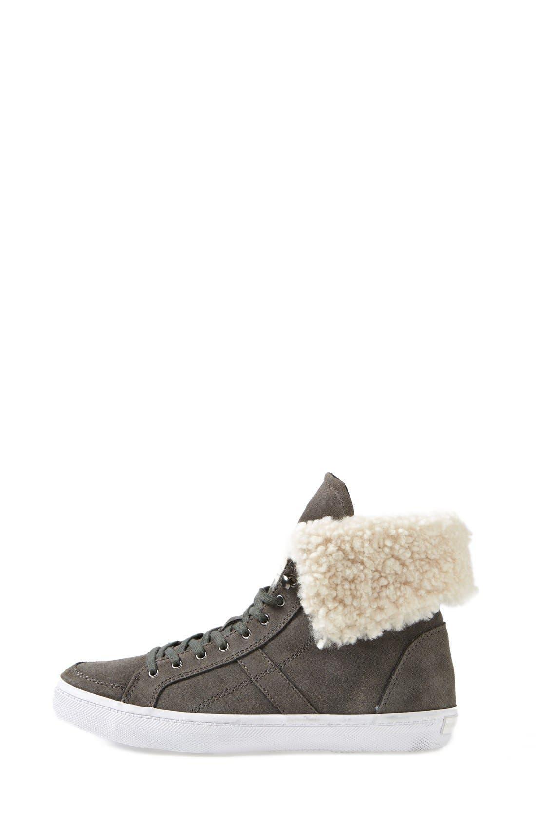 REBECCA MINKOFF,                             'Sasha' Suede High Top Sneaker,                             Alternate thumbnail 4, color,                             020