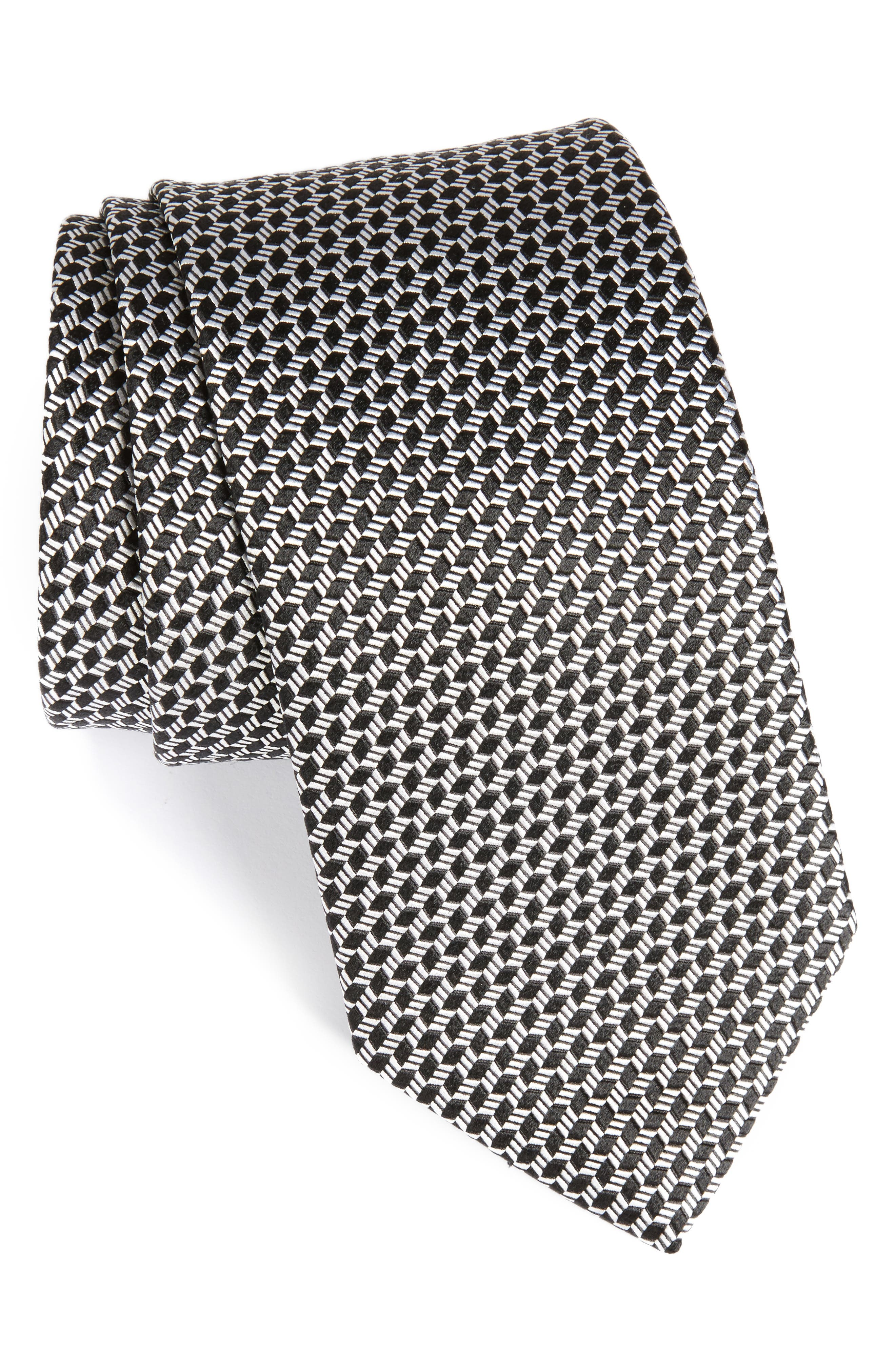 Neat Silk Tie,                             Main thumbnail 1, color,                             001