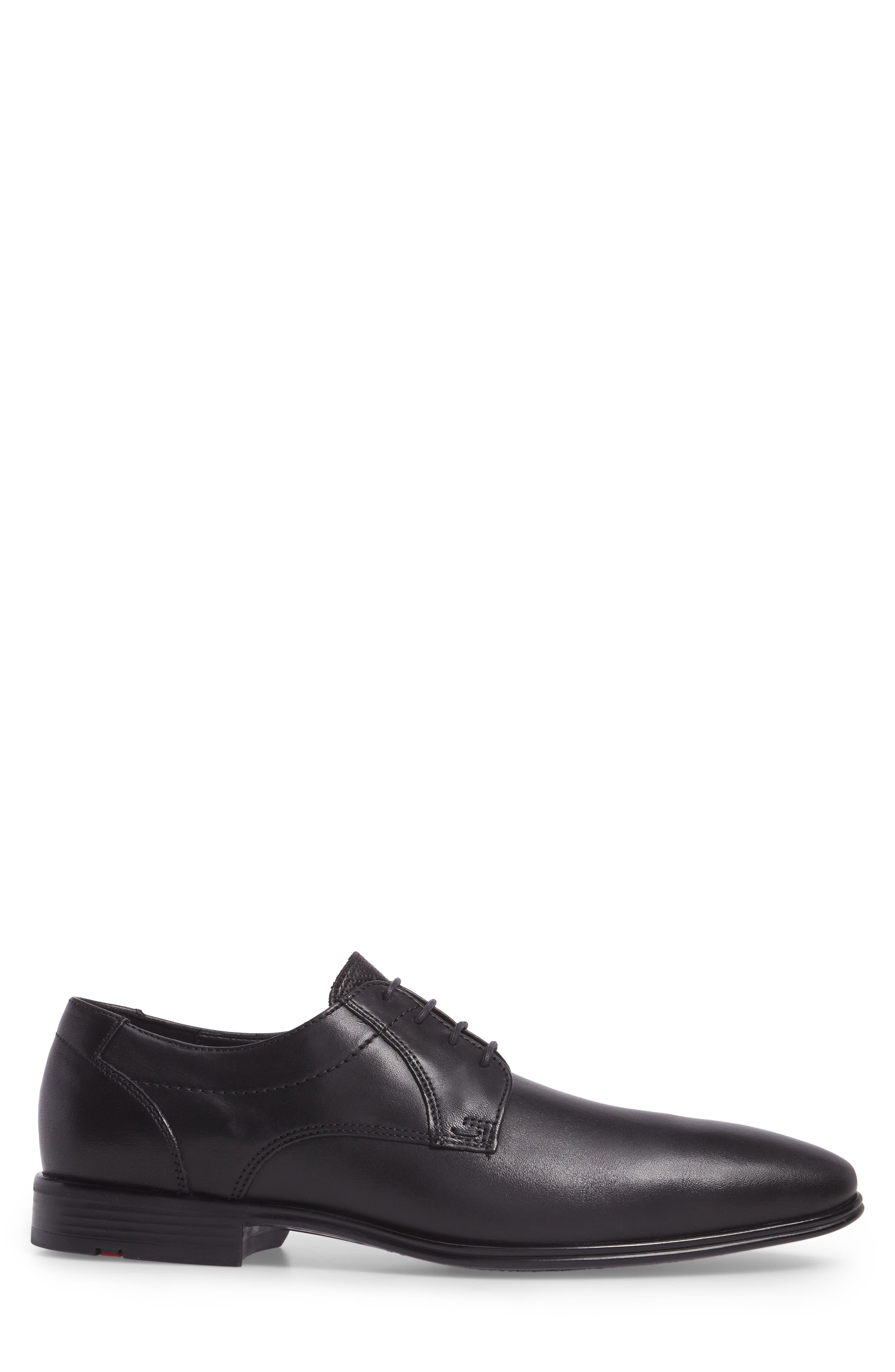 Osmond Plain Toe Derby,                             Alternate thumbnail 3, color,                             BLACK LEATHER