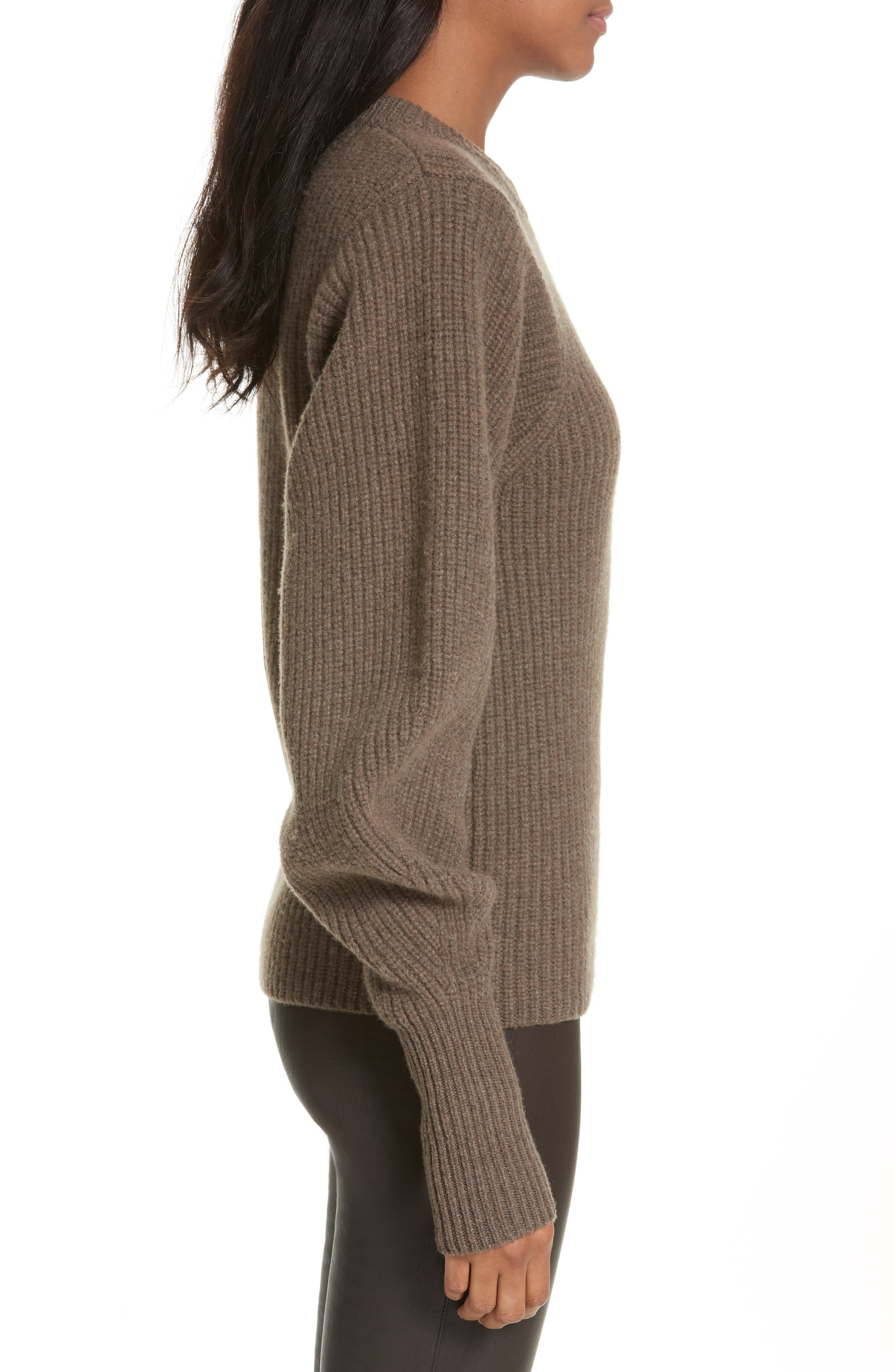 Blouson Sleeve Wool Sweater,                             Alternate thumbnail 3, color,                             346