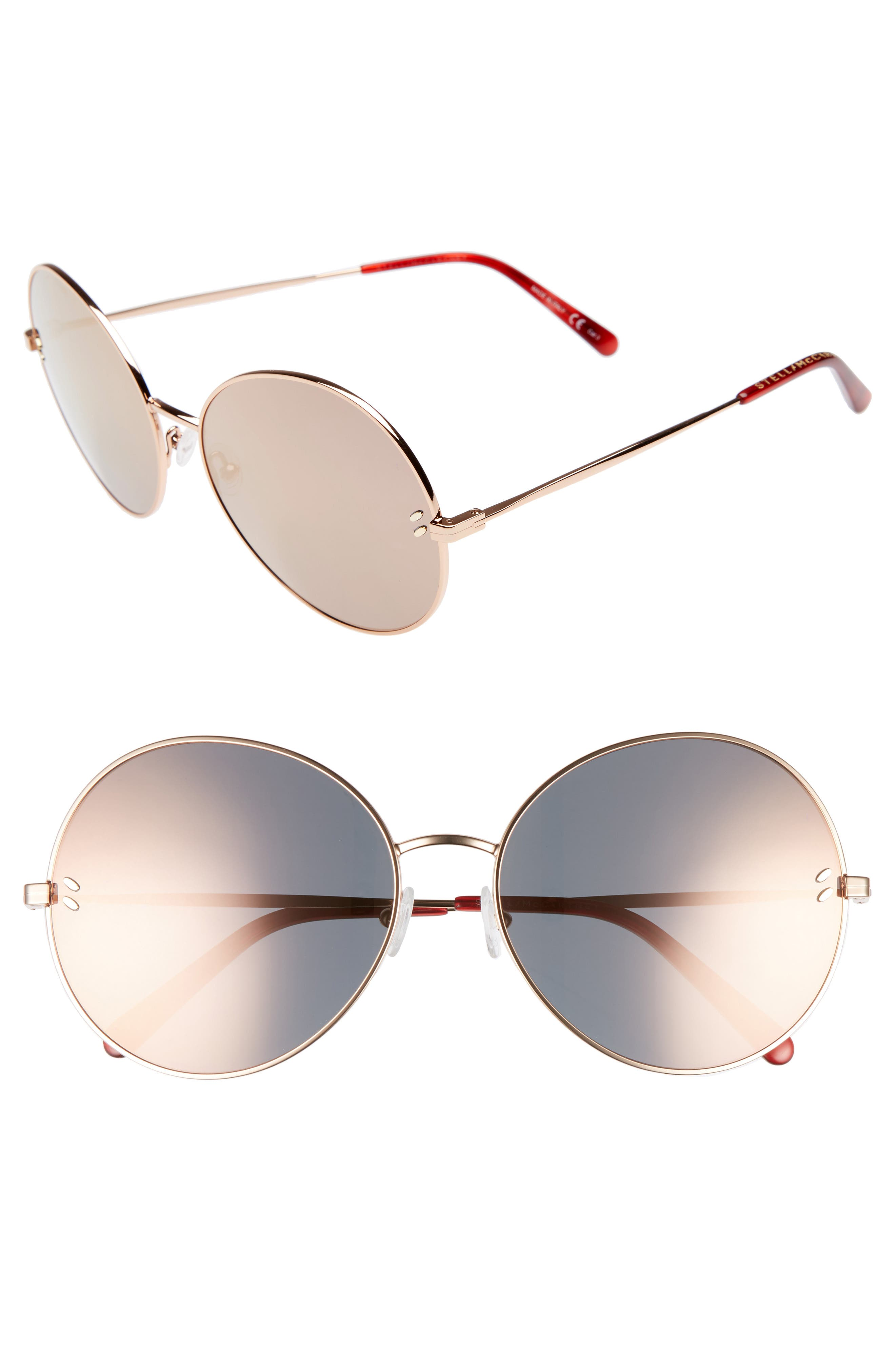 62mm Round Sunglasses,                             Main thumbnail 2, color,