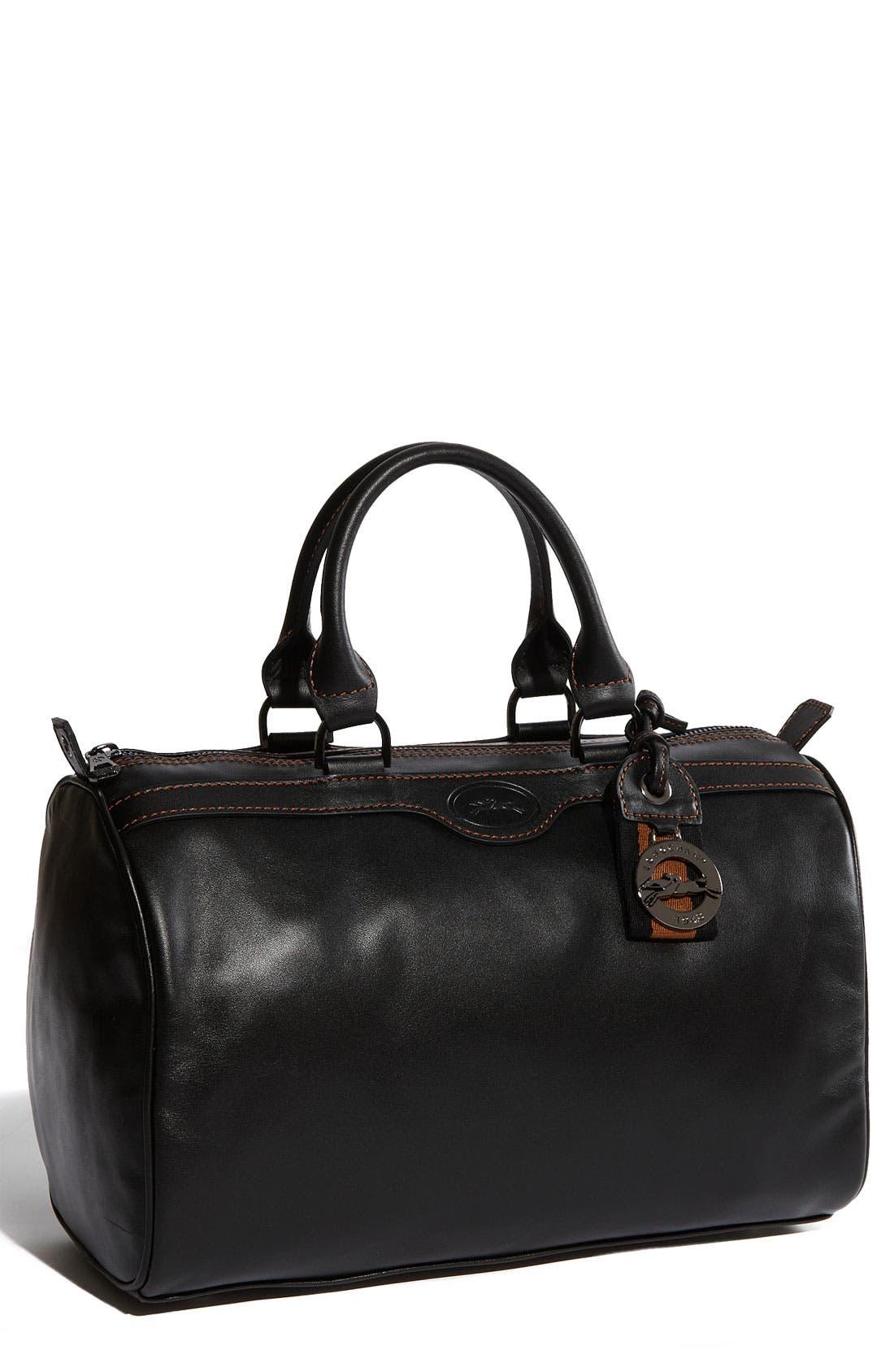 LONGCHAMP 'Au Sultan' Leather Satchel, Main, color, 001